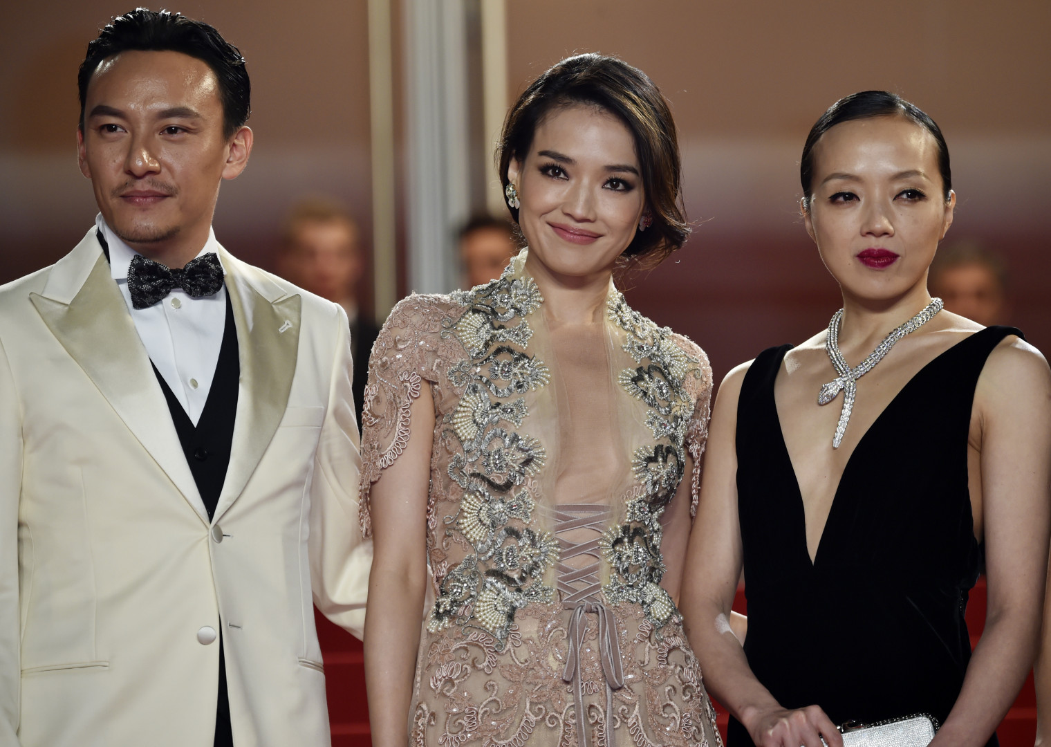 Les stars de ce film : les Taïwanais Chang Chen, Shu Qi et Sheu Fang-Yi (de gauche à droite)