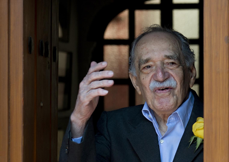 L'écrivain colombien Gabriel Garcia Marquez, le 6 mars 2014 dans sa maison de Mexico