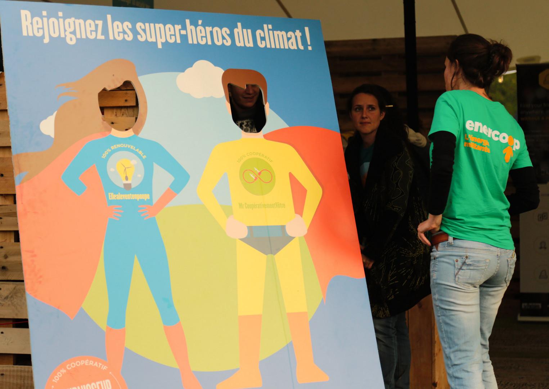 La société spécialisée en énergie renouvelable, Enercoop, présentait son activité