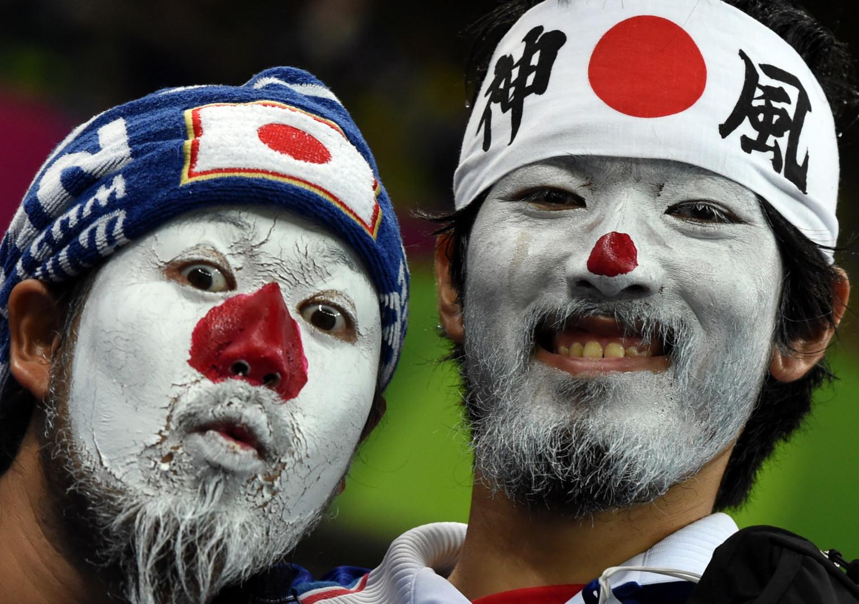 Des supporters japonais le 14 juin 2014