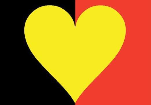 De nombreux cœurs avec le drapeau belge sont diffusés sur les réseaux sociaux