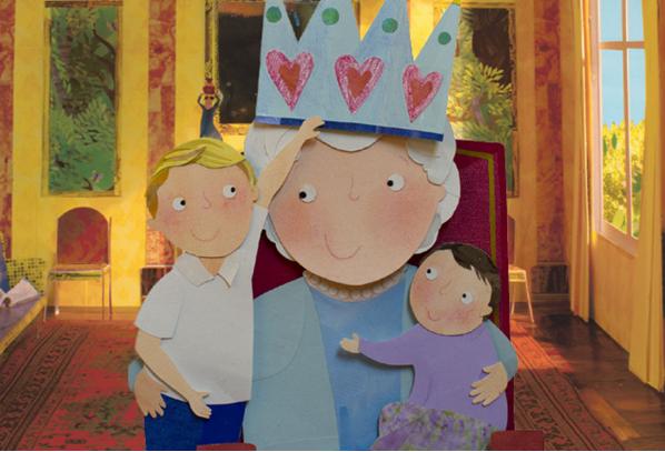 George et Charlotte en compagnie de la Reine