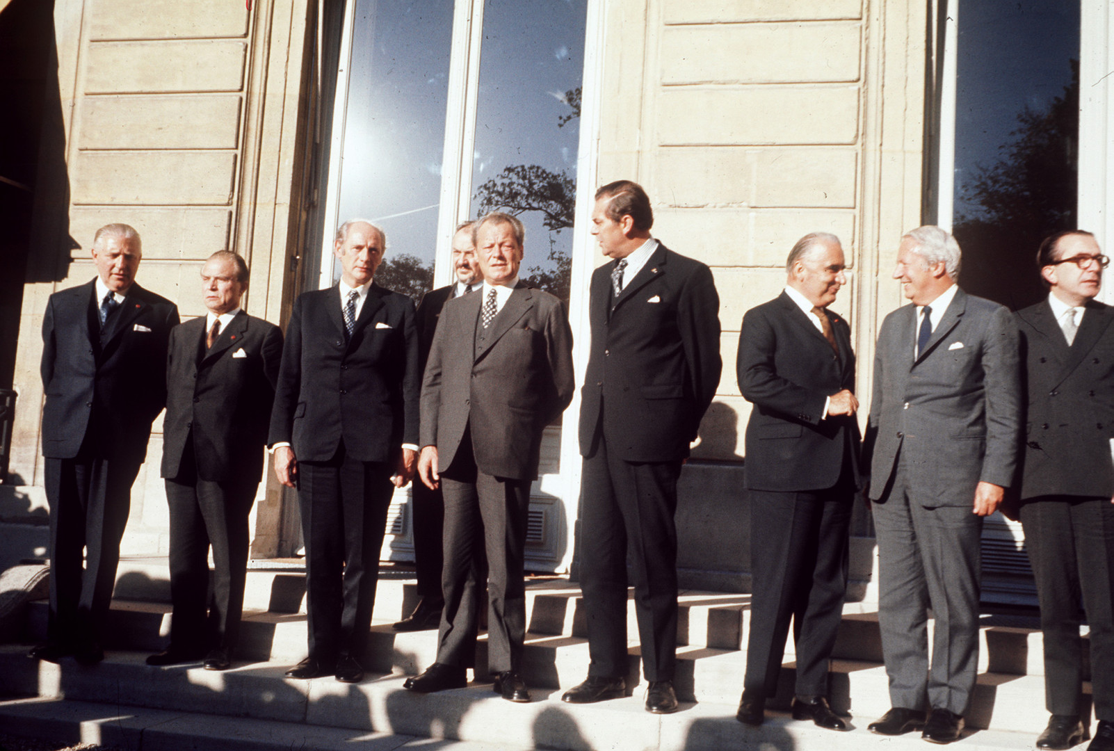 21 octobre 1972 : Le sommet de Paris réunit les chefs d'Etat des neuf pays de la CEE, dont Edward Heath, le Premier ministre europhile britannique