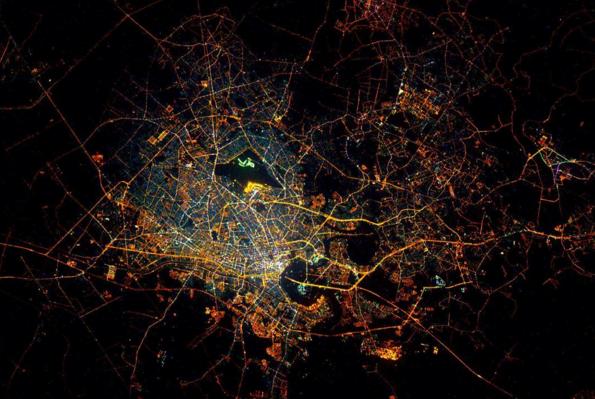 Les lumières de la ville d'Hô Chi Minh, au Vietnam