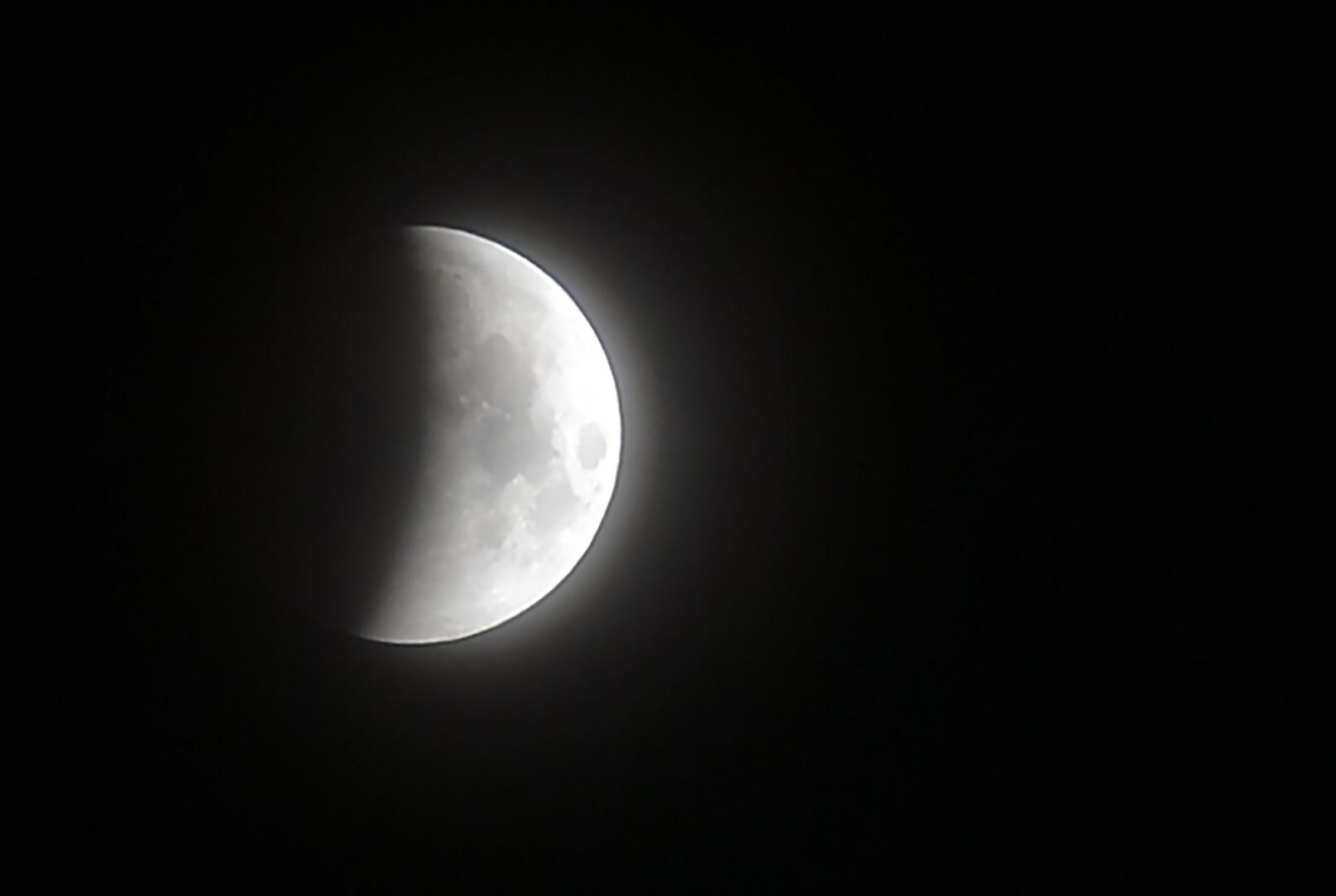 L'éclipse lunaire du 27 juillet 2018 vue du Sri Lanka