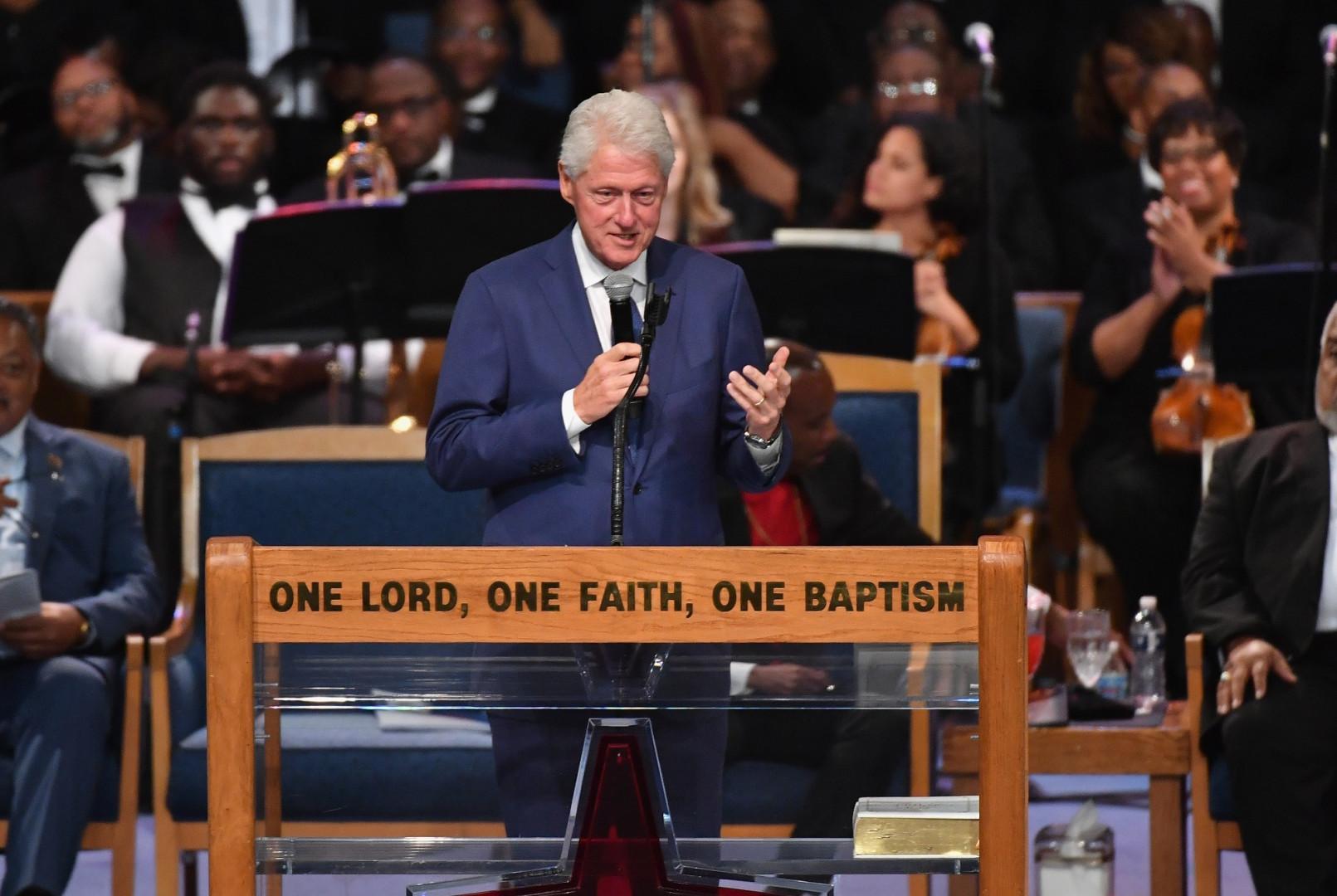 L'ancien président américain Bill Clinton a rendu hommage à l'héritage d'Aretha Franklin.