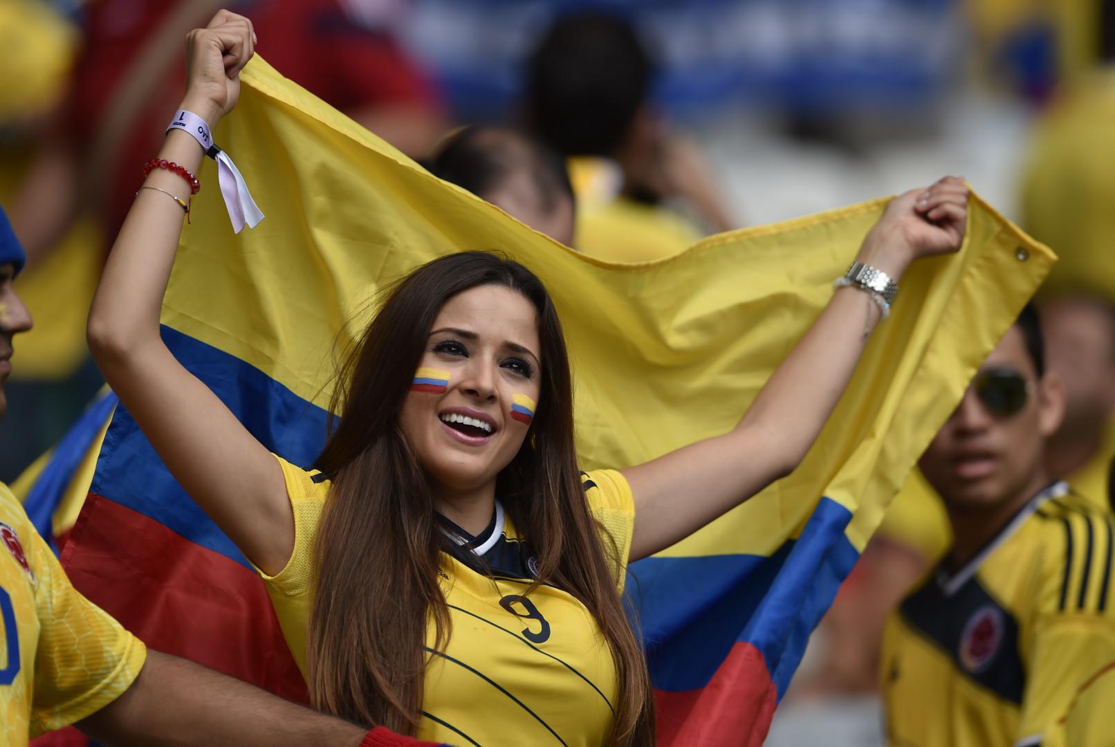 Les belles performances de la Colombie au Mondial ont enjoué cette supportrice
