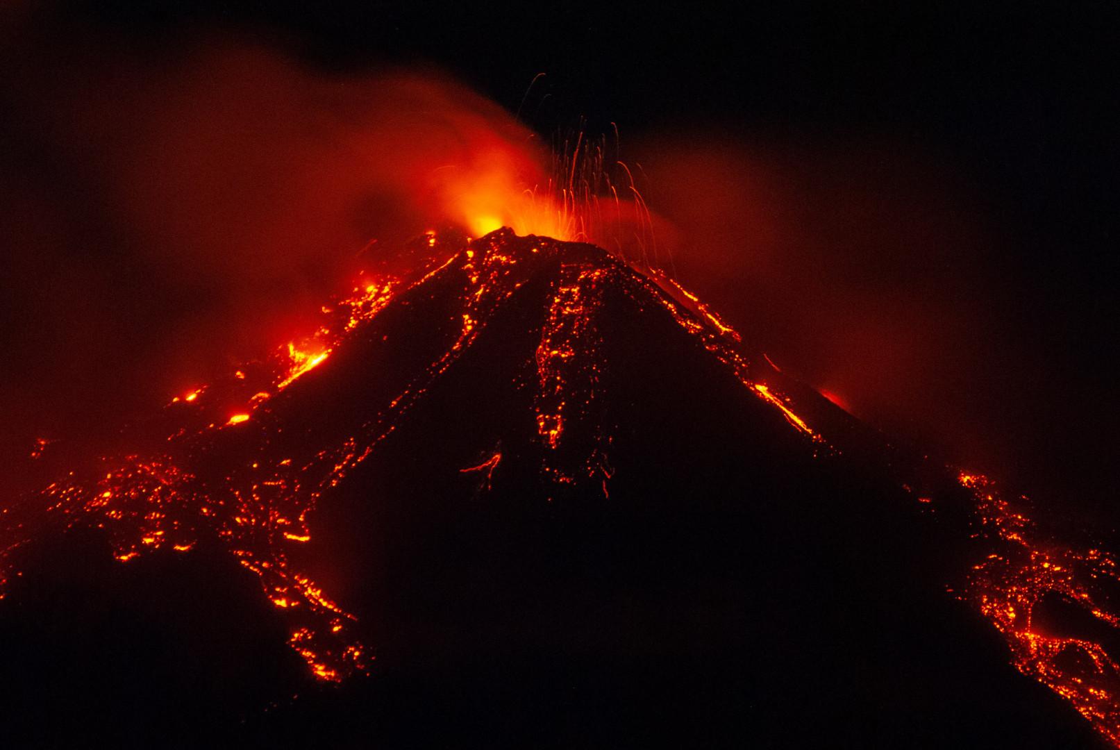 Les éruptions de l'Etna sont fréquentes