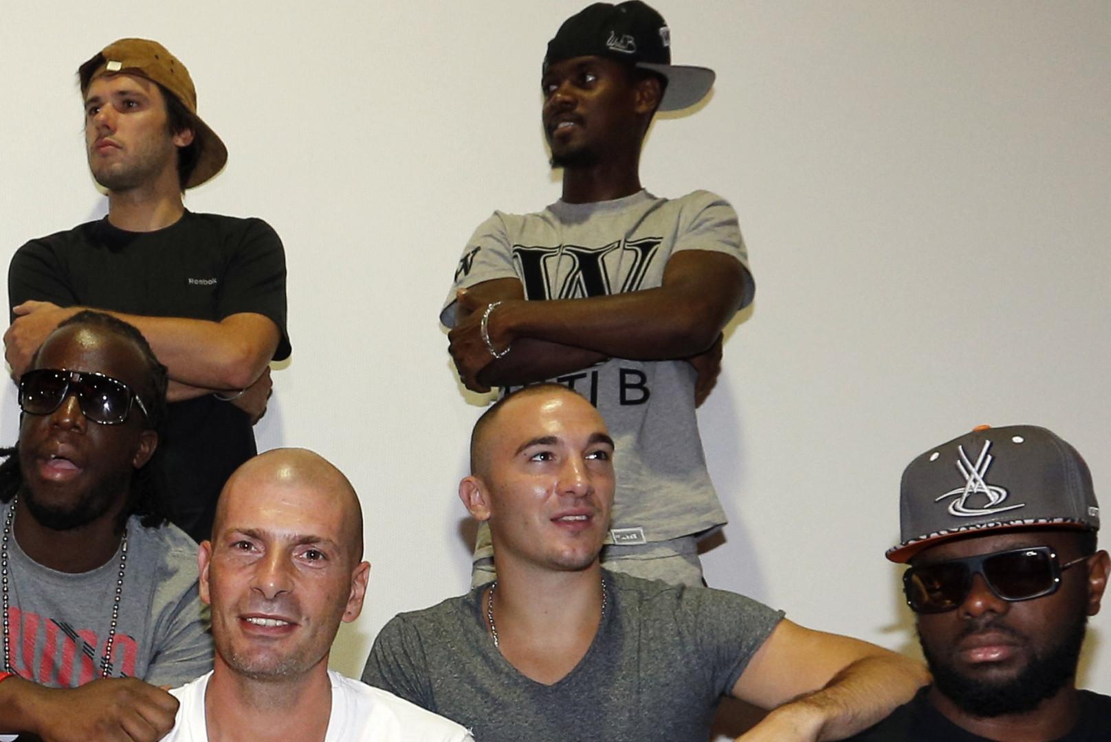 Black M, ici en compagnie d'autres rappeurs, est nommé dans deux catégories