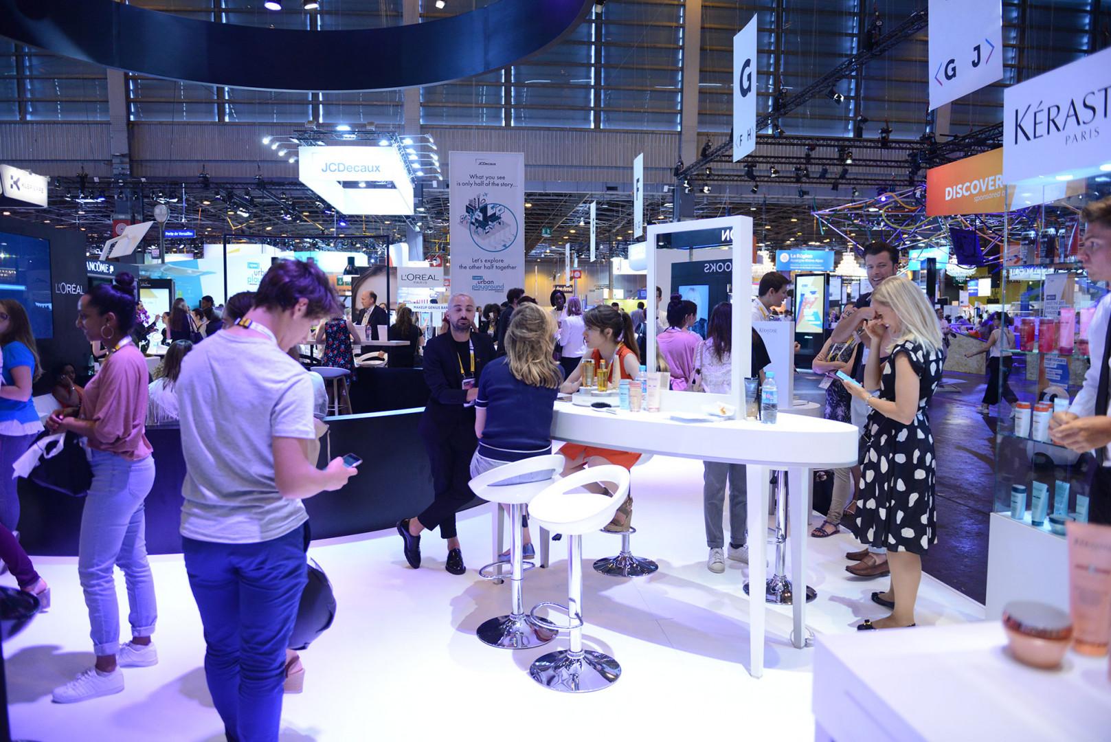 Le  stand de L'Oréal à Viva Technology