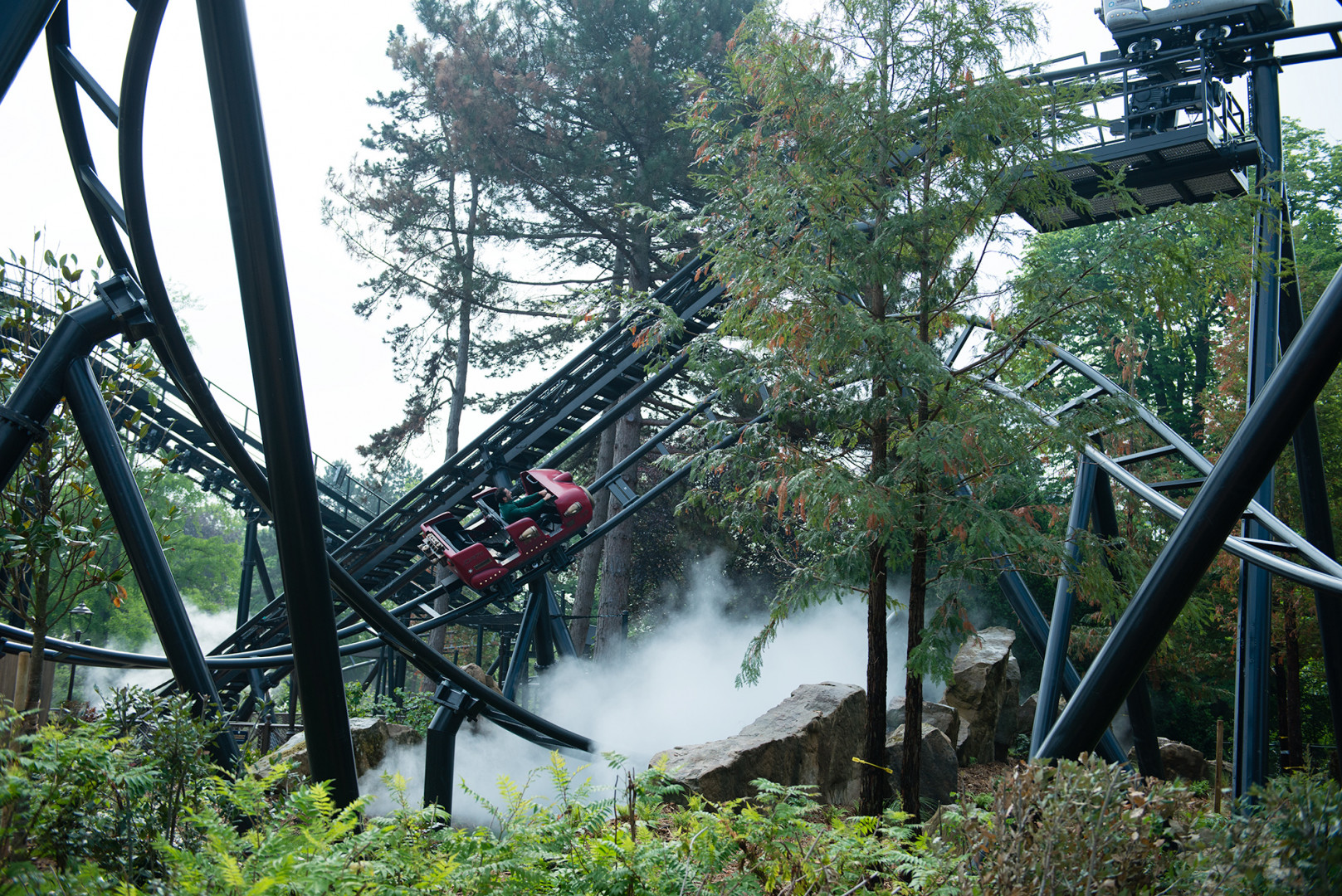 """Le manège """"Speed Rockets"""" est l'une des attractions à sensations fortes du Jardin d'Acclimatation."""
