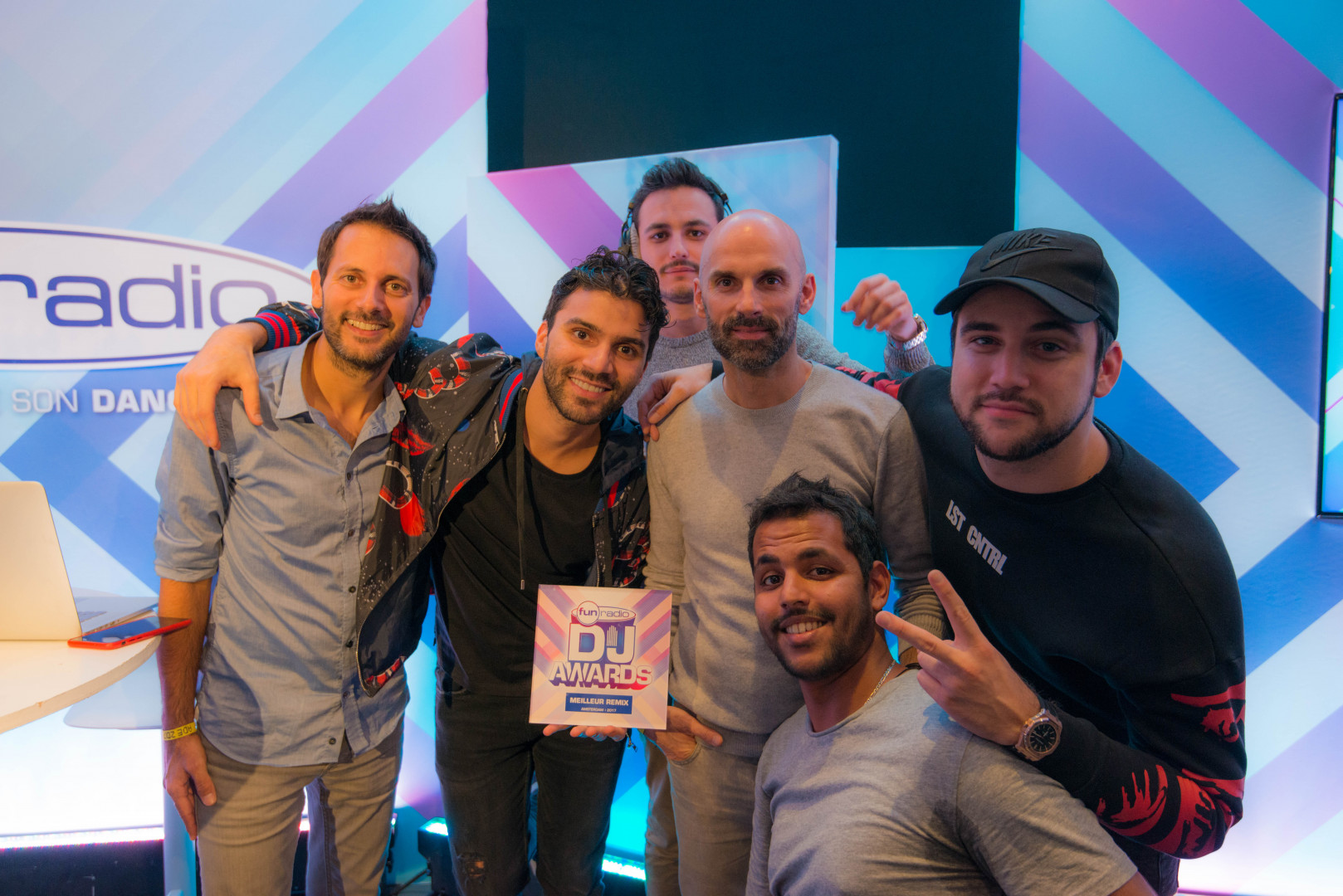 La team Fun Radio avec R3hab