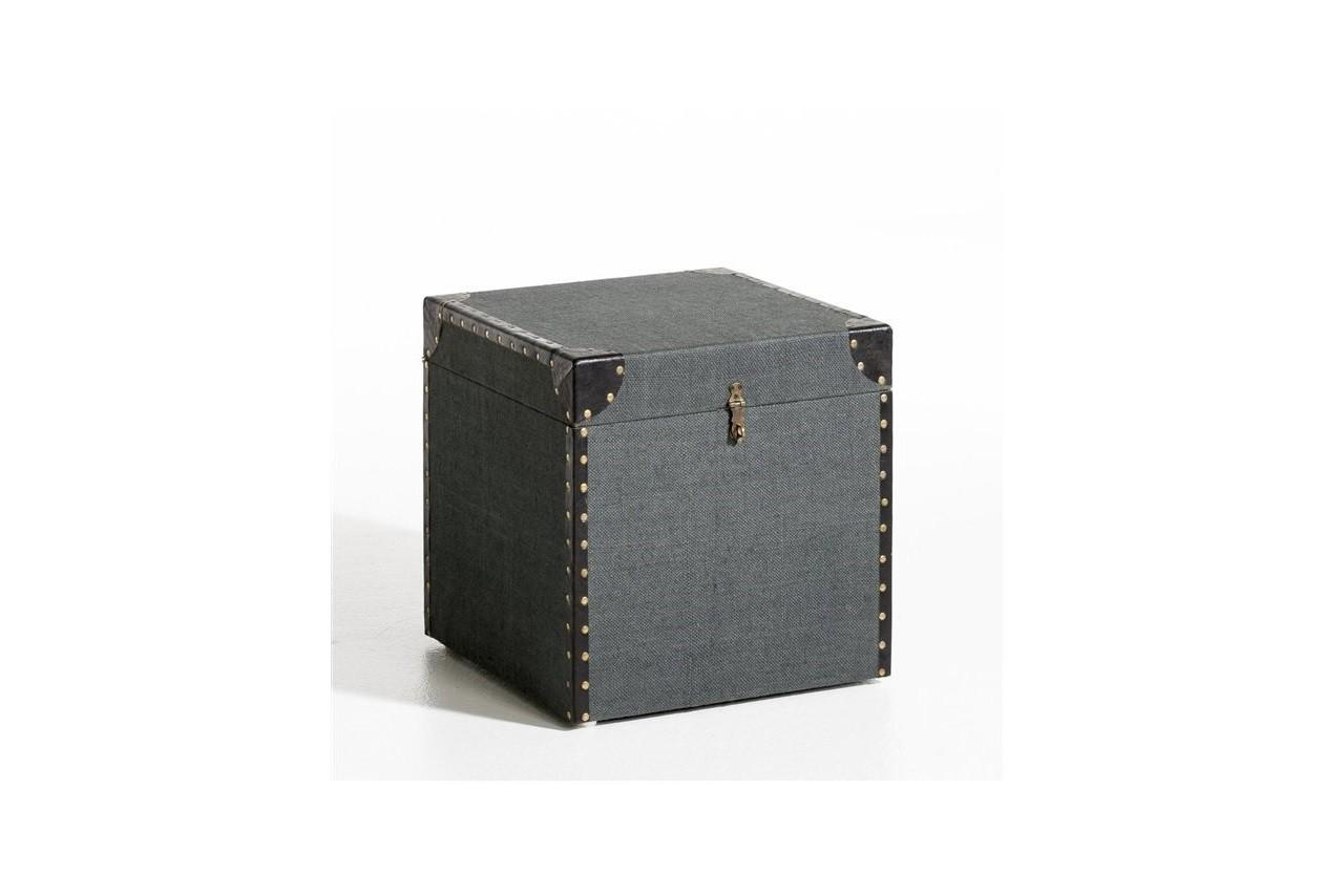 Coffre toile et cuir comptoir, AMPM, La Redoute