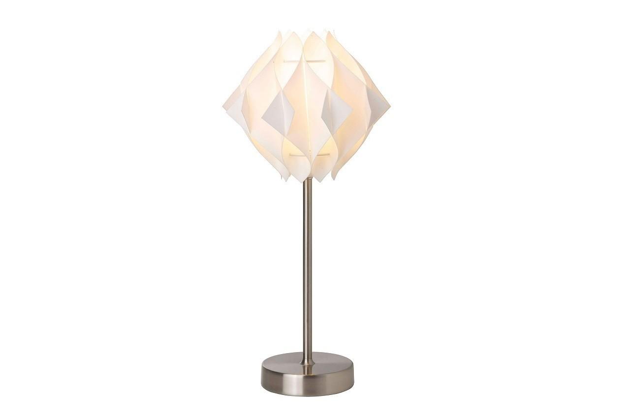Lampe à poser en métal avec abat-jour pliage Origami, Brilliant, Delamaison