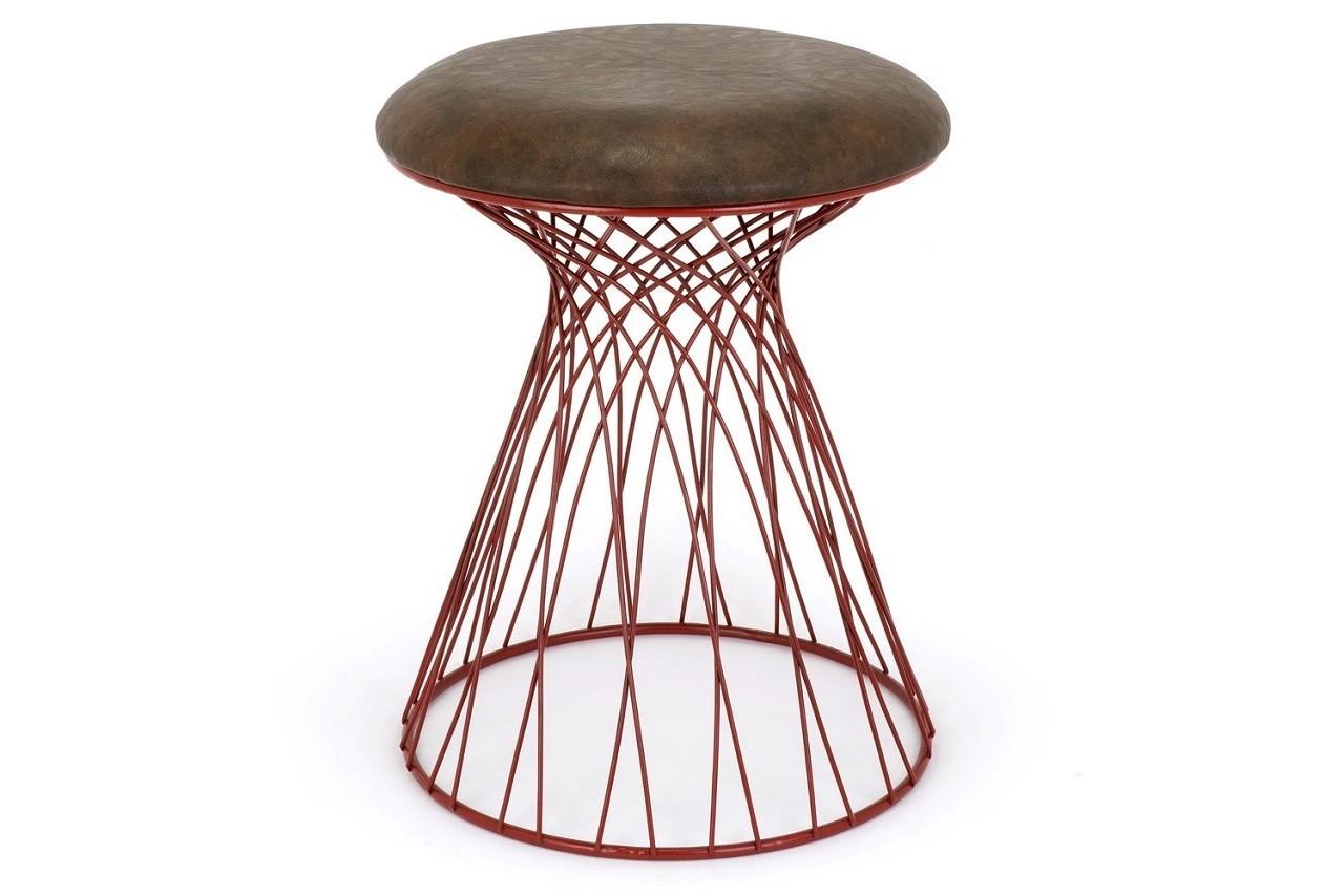Tabouret Calypso rouge, La chaise longue