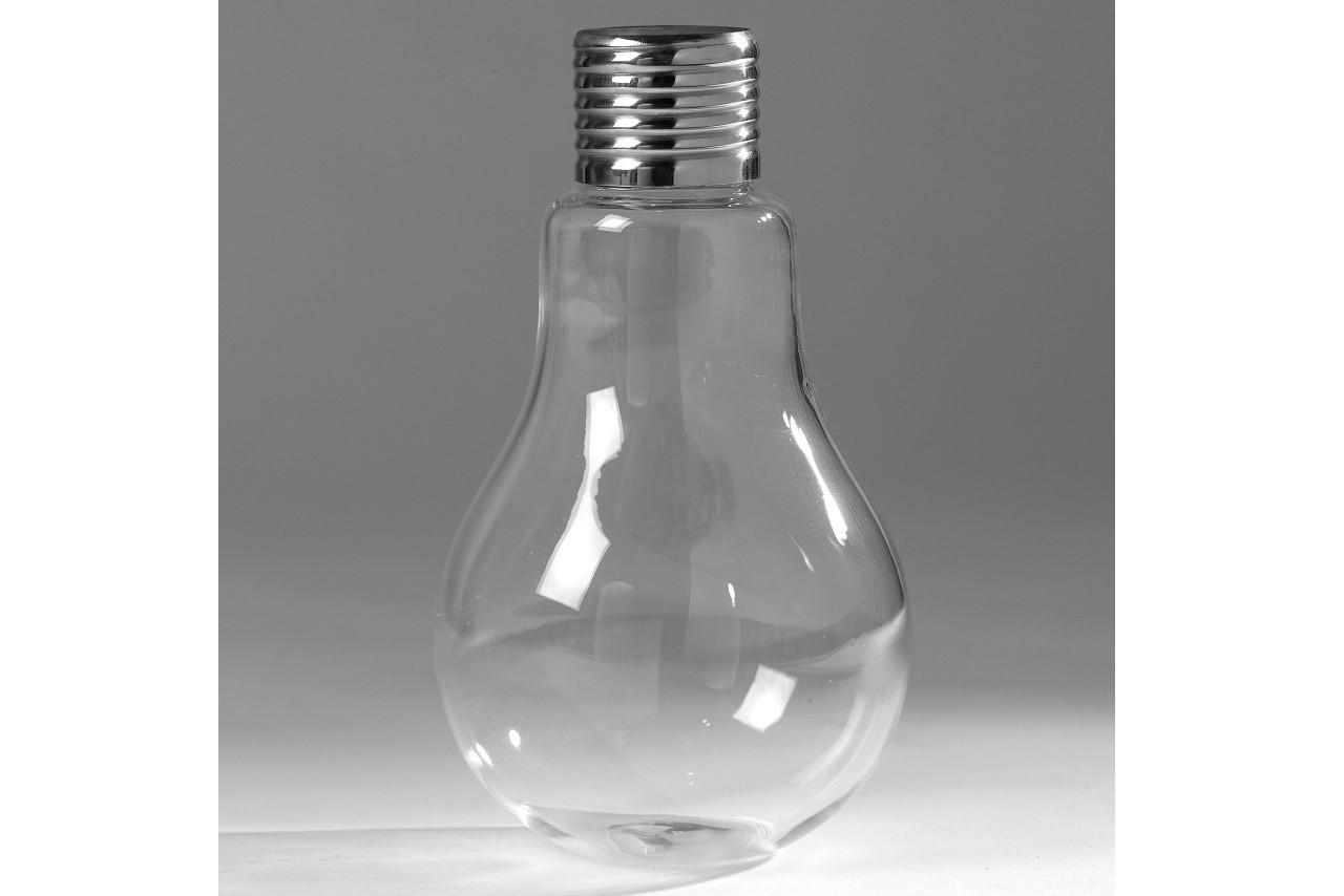Vase verre transparent et culot métal forme ampoule BULB, Serax, Delamaison