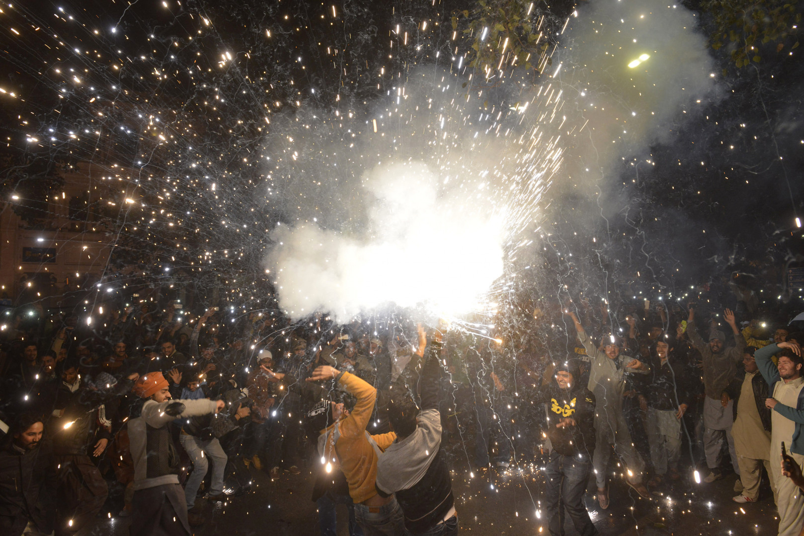 À Lahore, au Pakistan, il y avait aussi des festivités