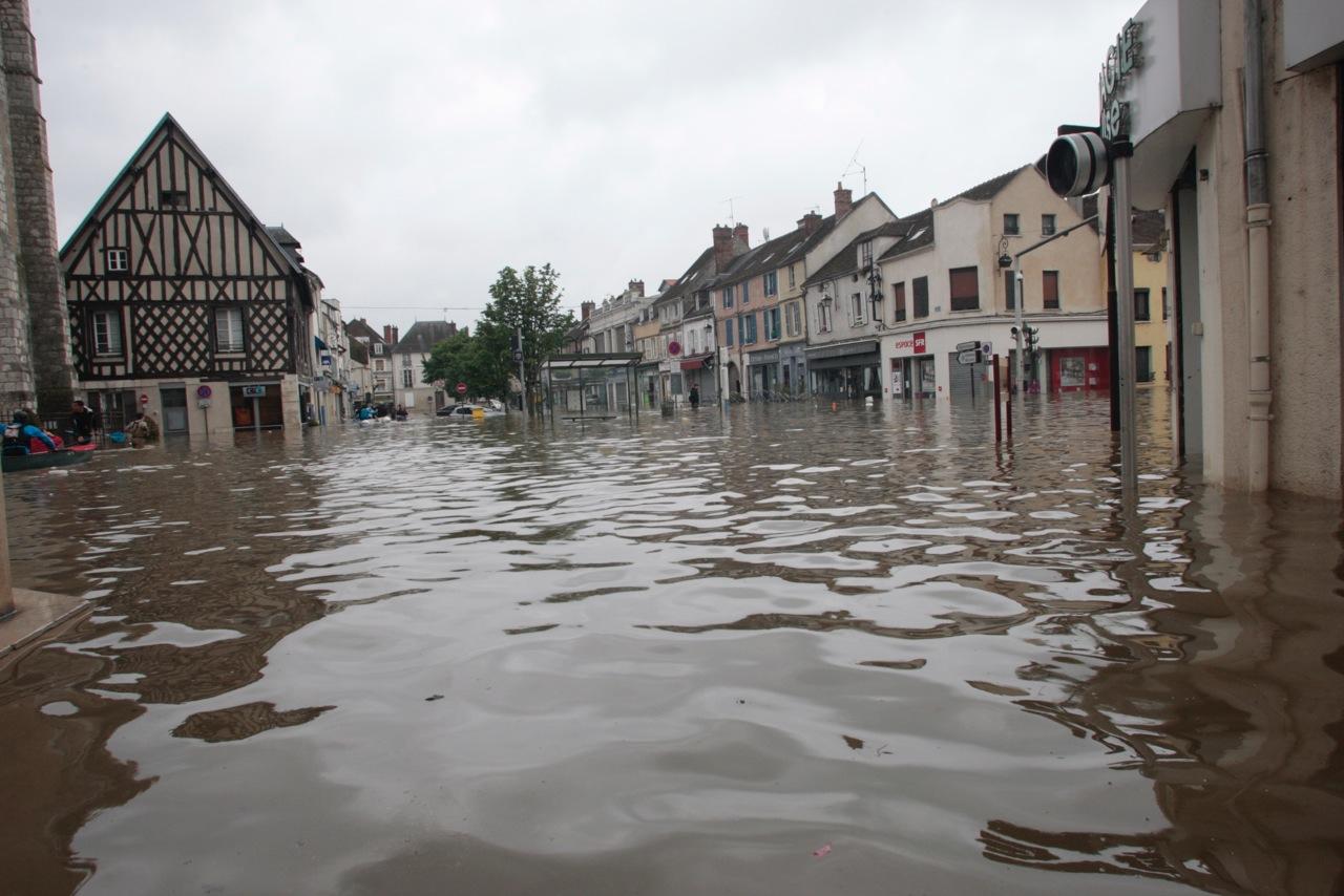 Les inondations à Nemours (Seine-et-Marne)