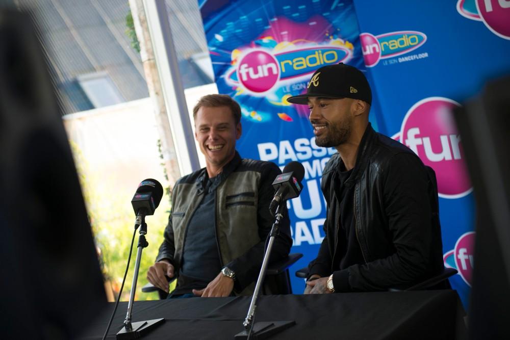Armin Van Buuren et Mr Probz en interview à Tomorrowland