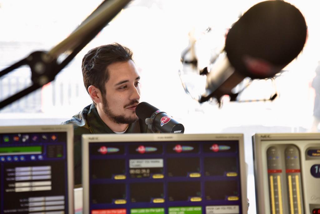 Lude dans les studios de Fun Radio Belfort
