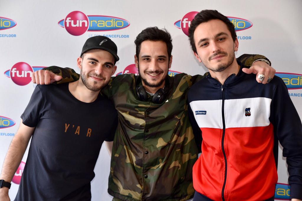 Lude en compagnie de Corentin et JB dans les studios de Fun Radio Belfort