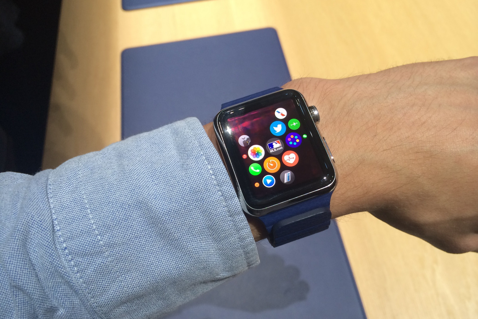 L'Apple Watch, légère et pratique