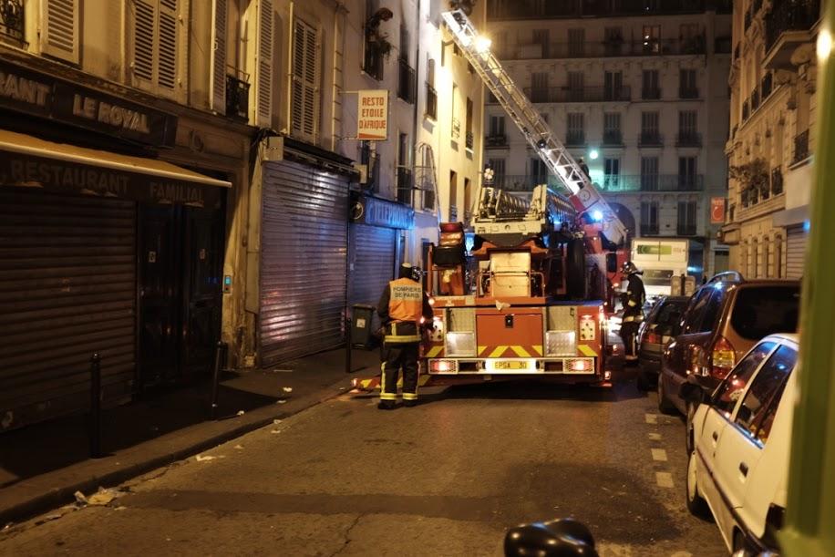 Des dizaines de camions de pompiers étaient présents