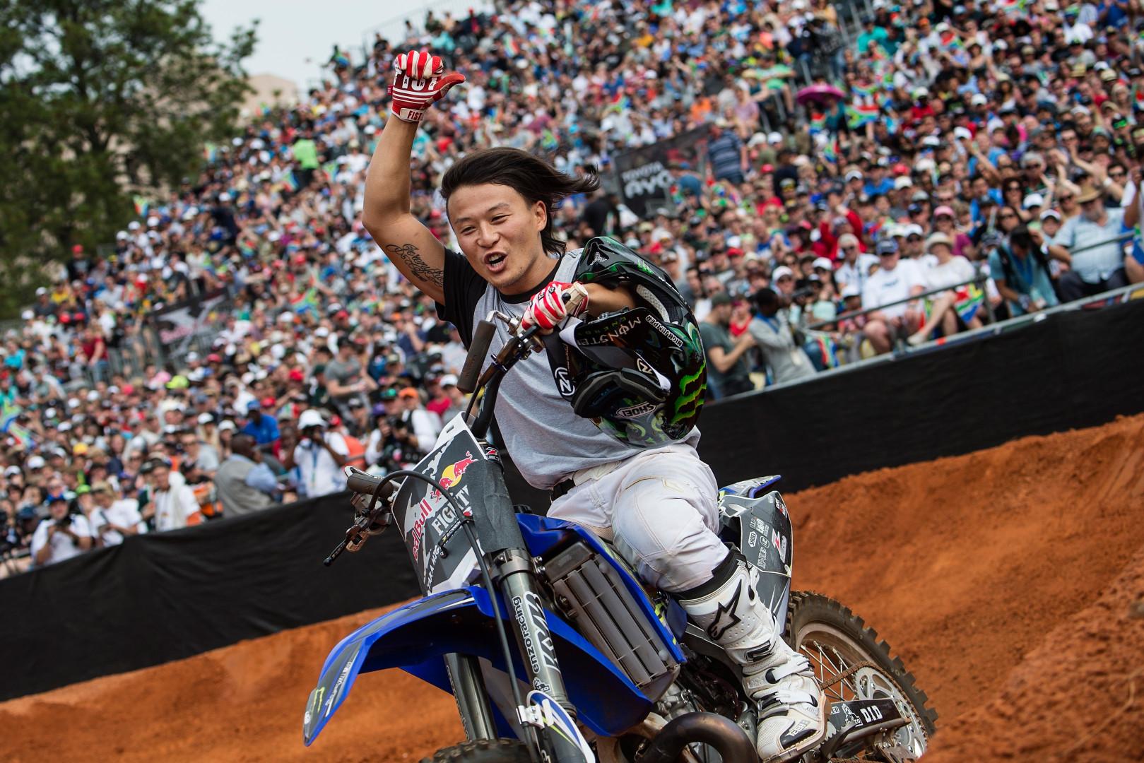 Le rider japonais Taka Higashino à Pretoria