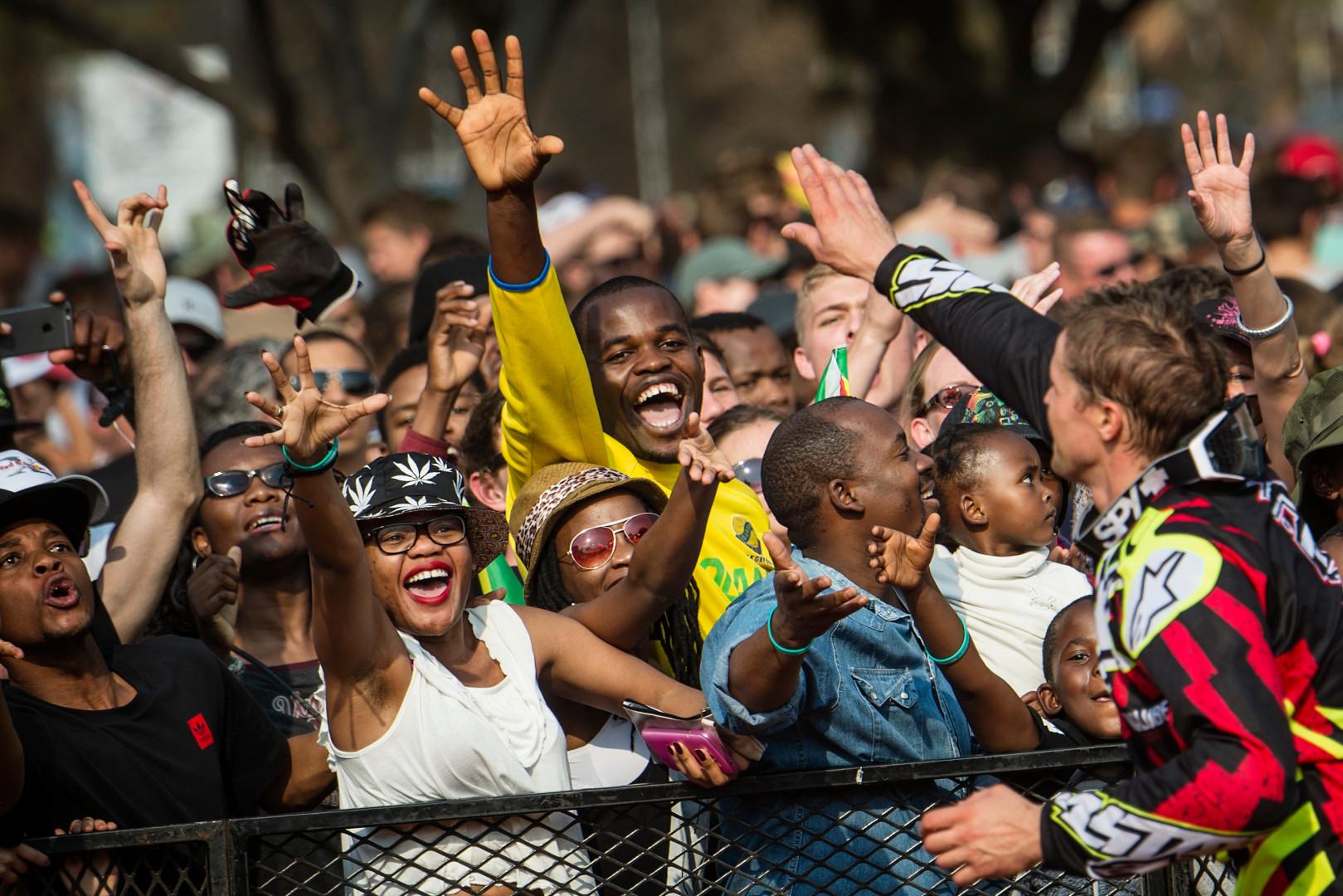 Des fans lors de l'épreuve de Pretoria