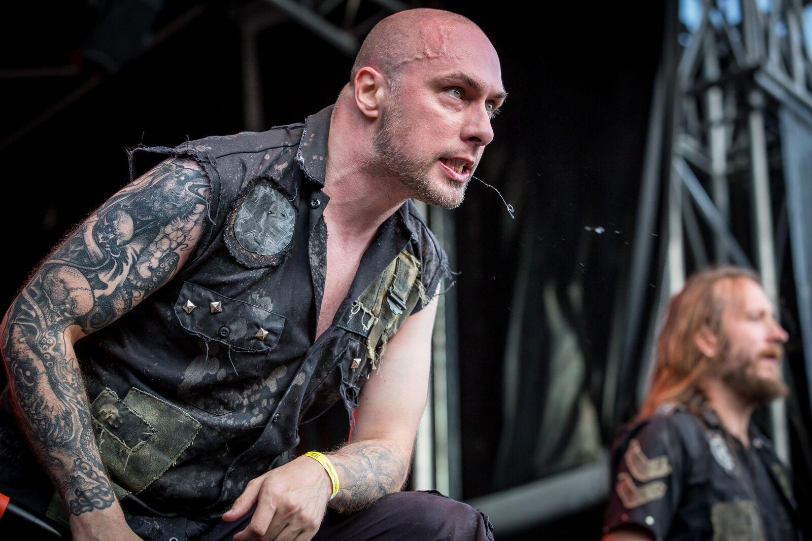 Aborted, un groupe de Brutal Death, à l'édition 2015 du Motocultor à Saint-Nolff