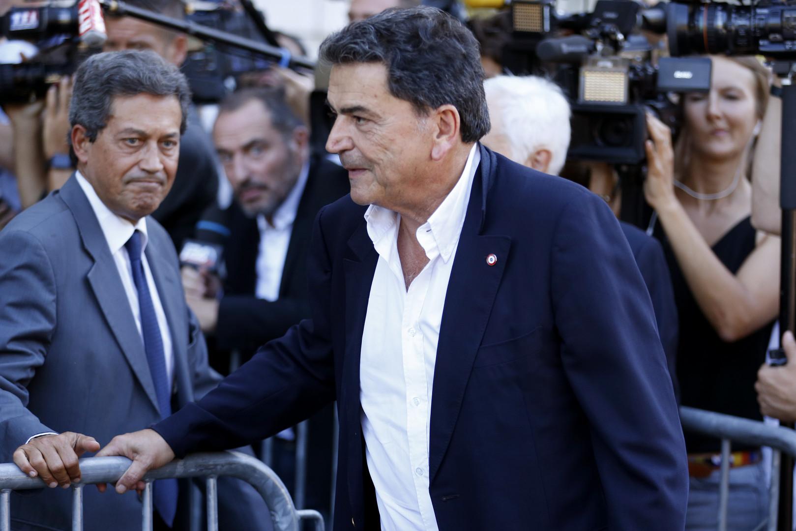 Pierre Lellouche lors d'une réunion au siège Les Républicains à Paris, le 23 août 2016