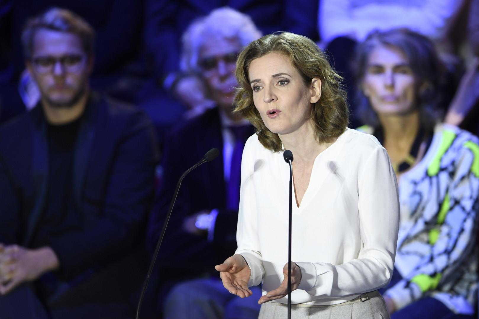 Nathalie Kosciusko-Morizet lors du deuxième débat de la primaire de la droite, le 3 novembre