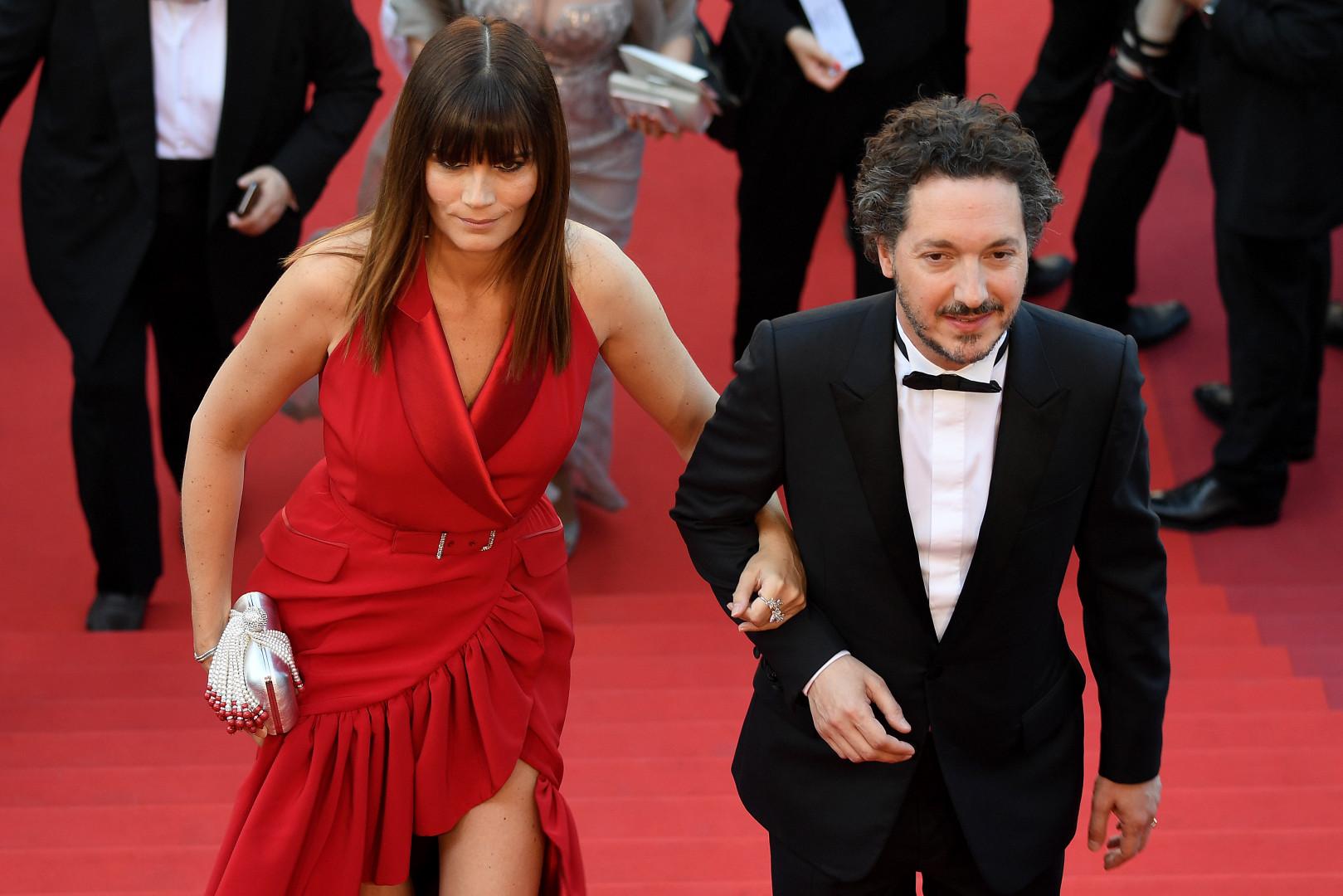 L'actrice française Marina Hands avec l'acteur Guillaume Gallienne