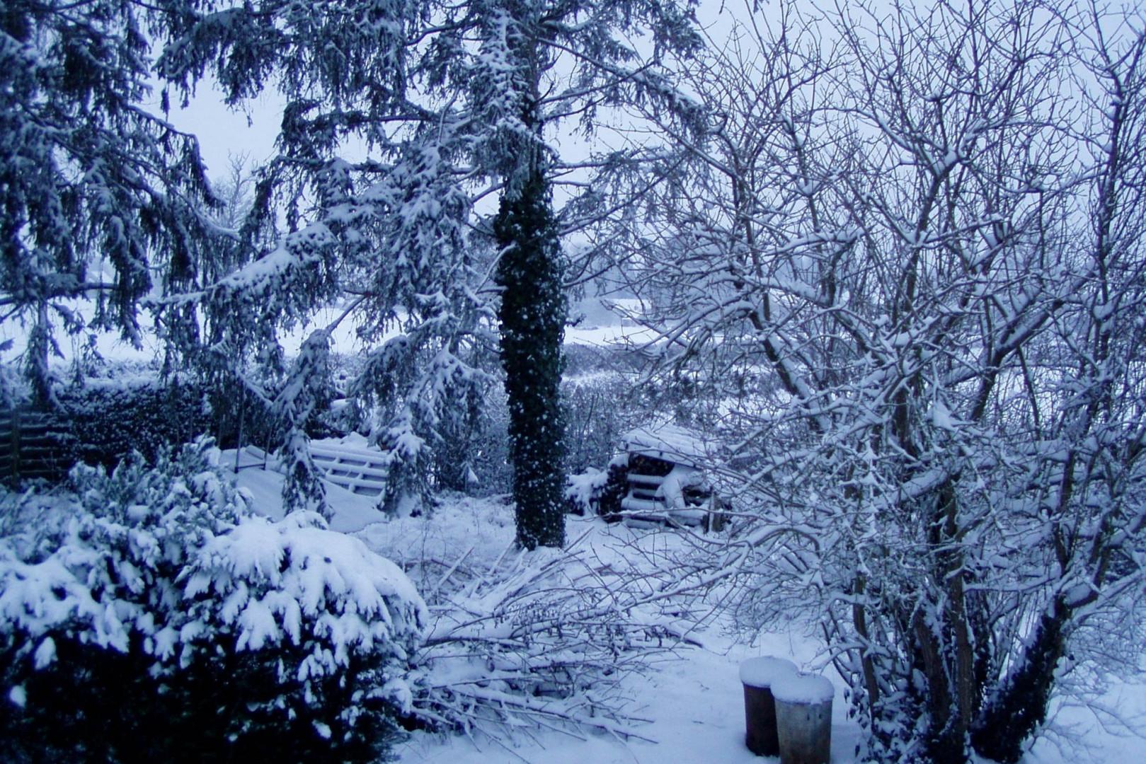 Neige à Lussat (Creuse) le 6 février 2018
