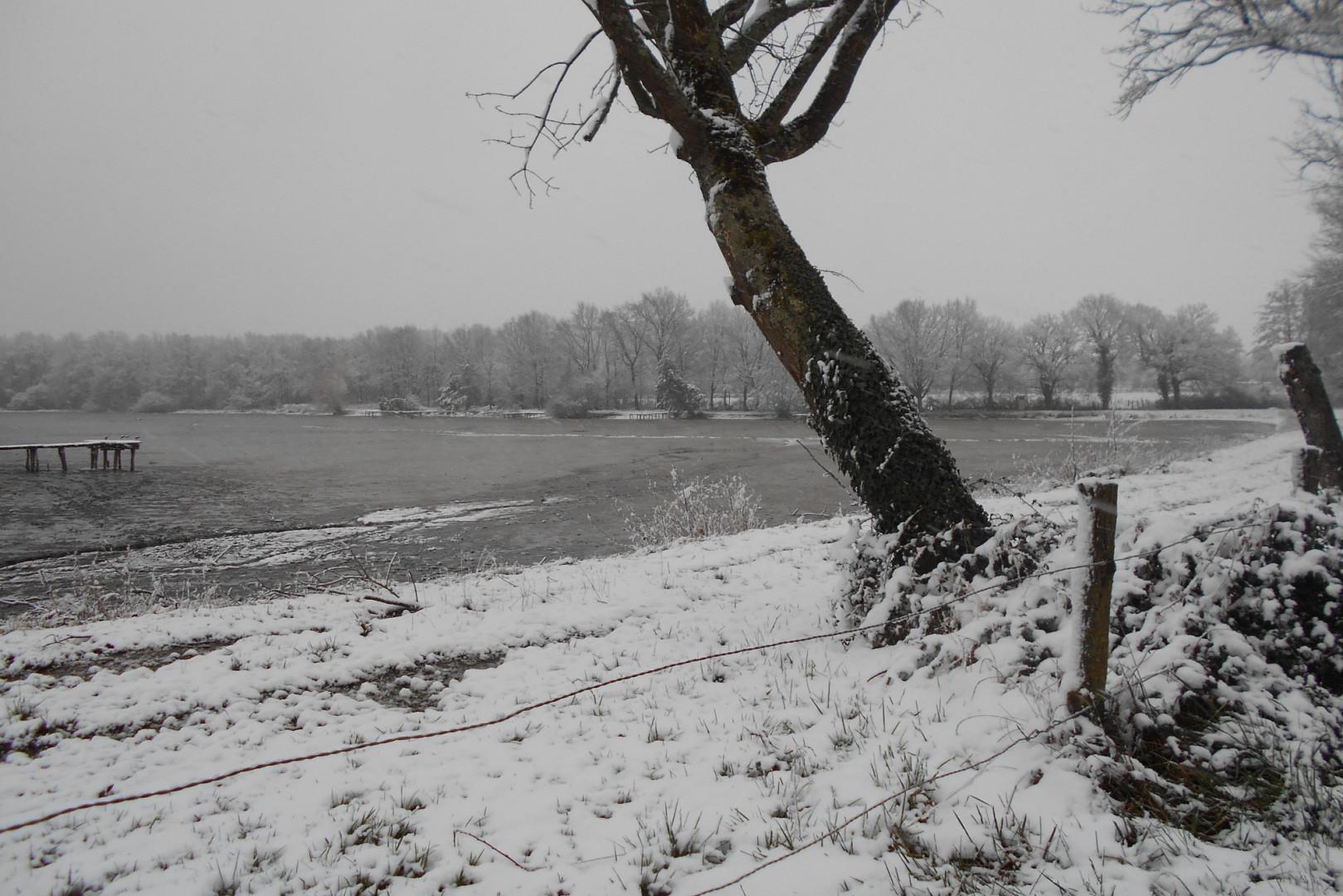La neige à Saint-Gérand-de-Vaux (Allier) le 6 février 2018