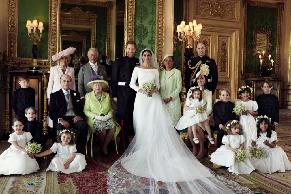 La famille royale au complet avec ses deux nouveaux membres Meghan Markle et sa mère Doria Ragland
