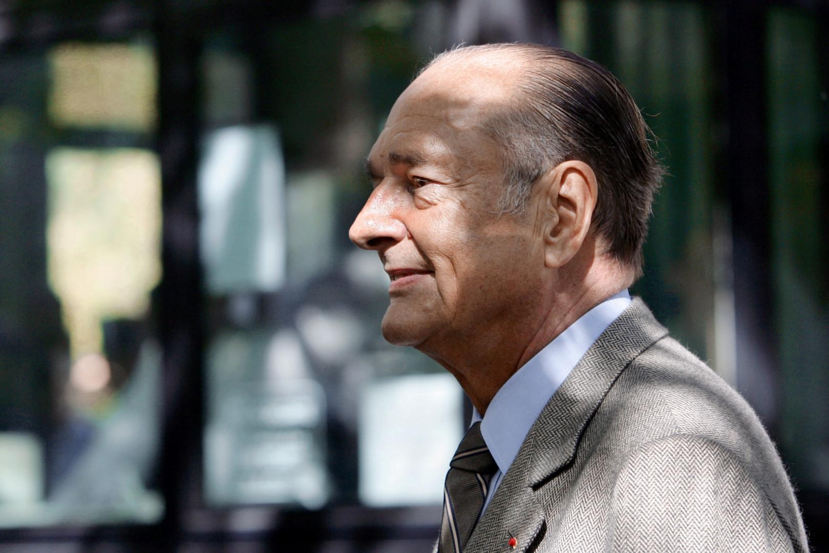 Le président Jacques Chirac, ici en 2005, est décédé ce jeudi 26 septembre 2019