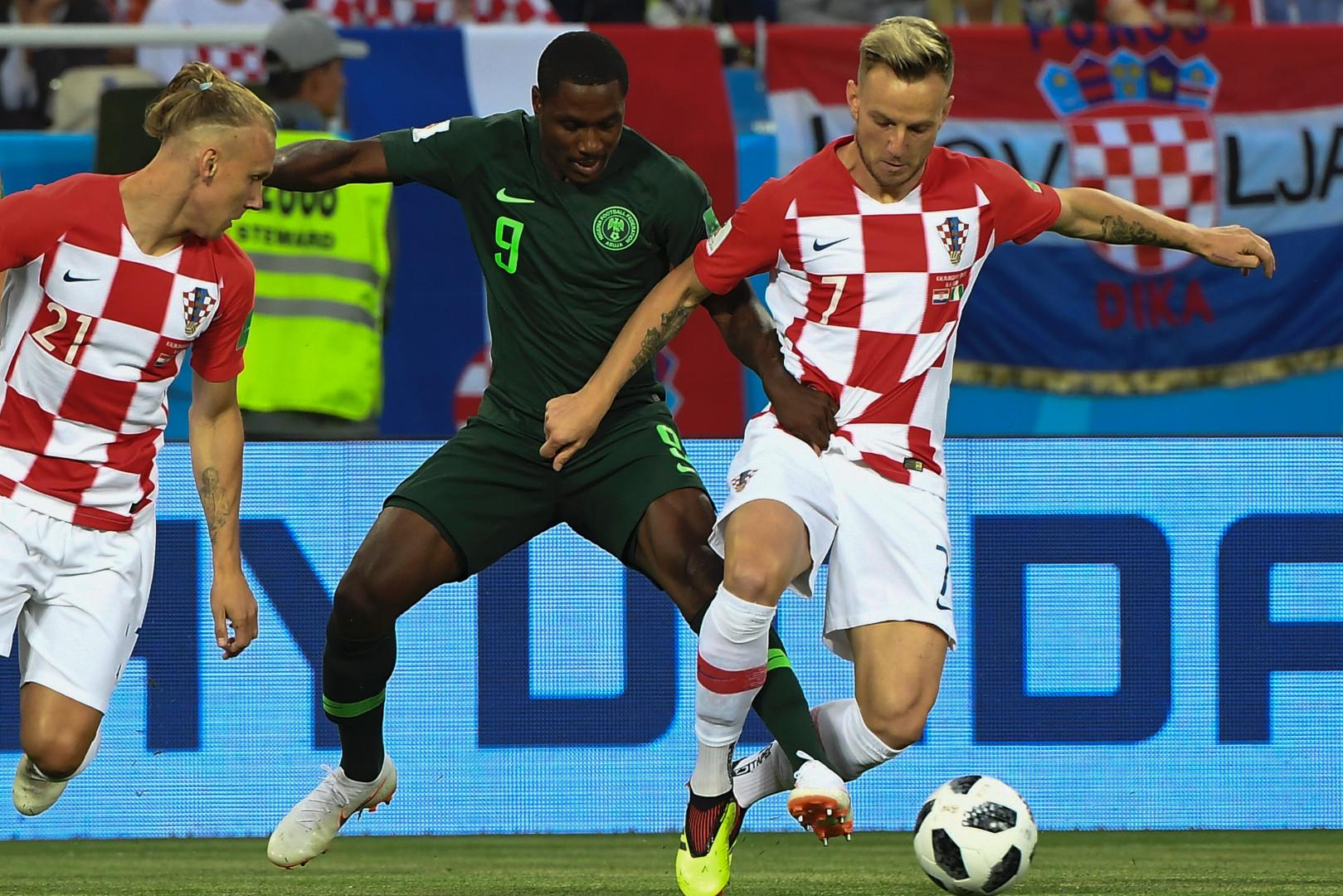 Ivan Rakitic, lors du match Croatie-Nigeria, le 16 juin 2018