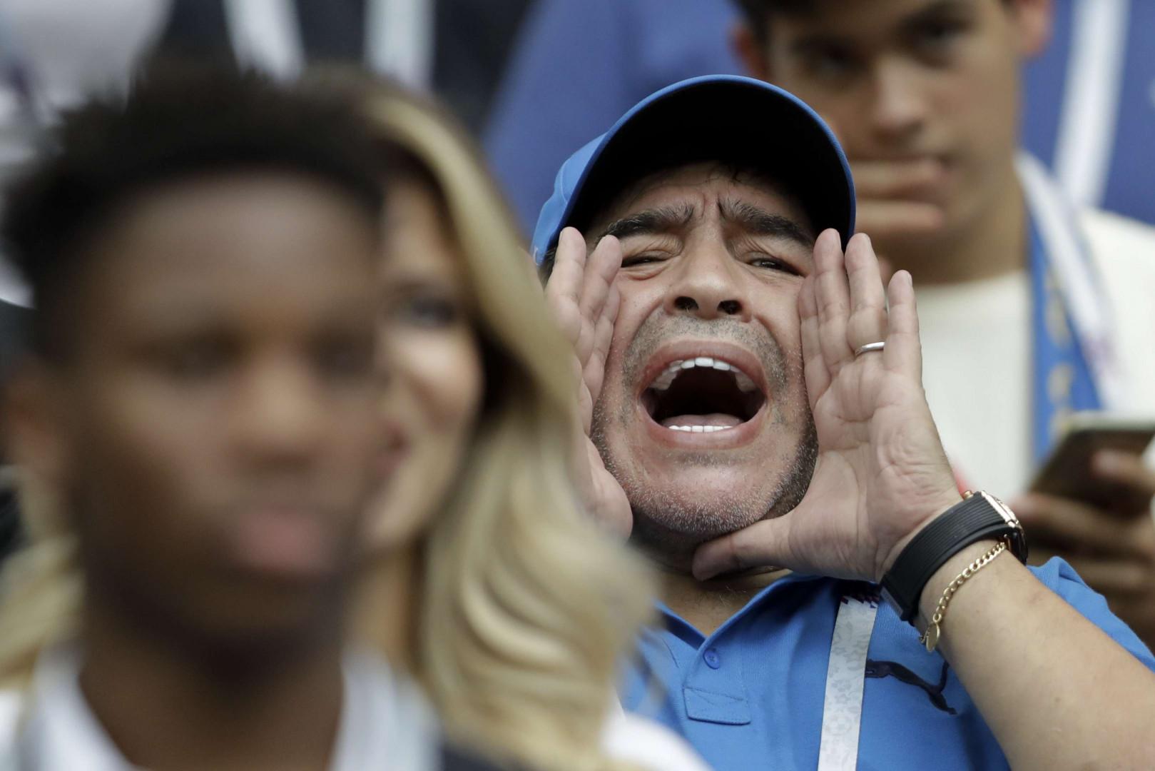 Maradonna présent dans les tribunes de la finale de la Coupe du Monde