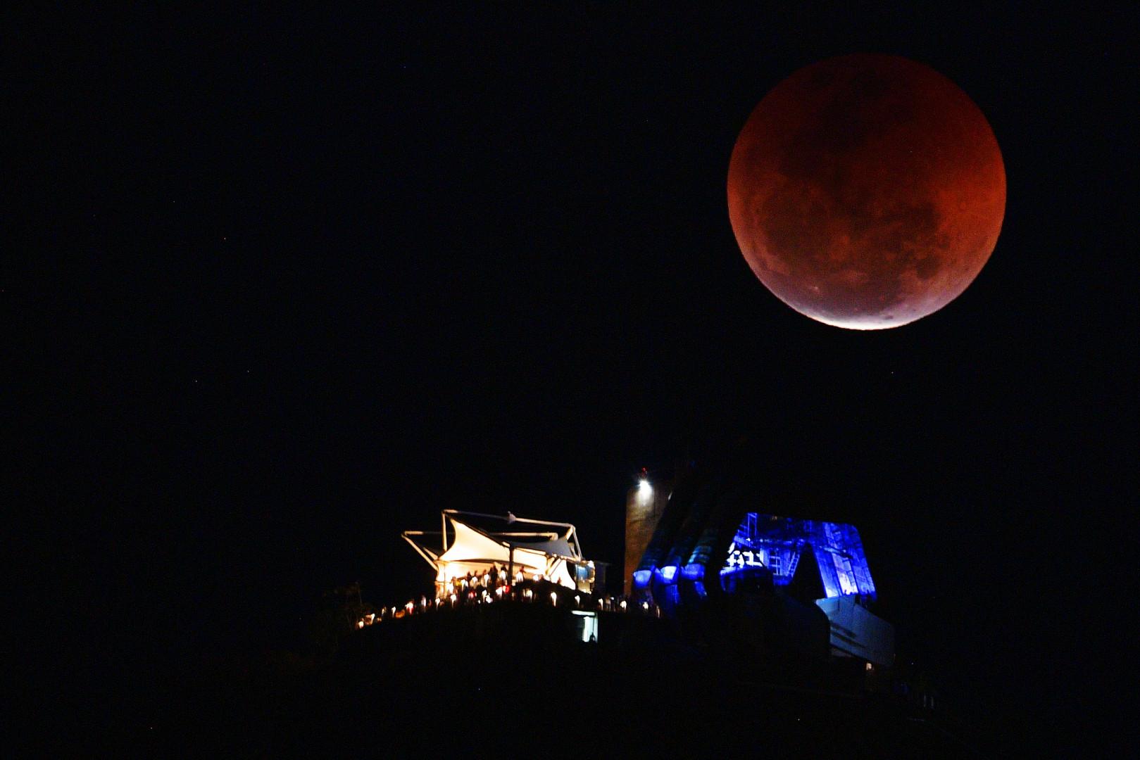 L'éclipse totale de Lune à Rio de Janeiro au Brésil