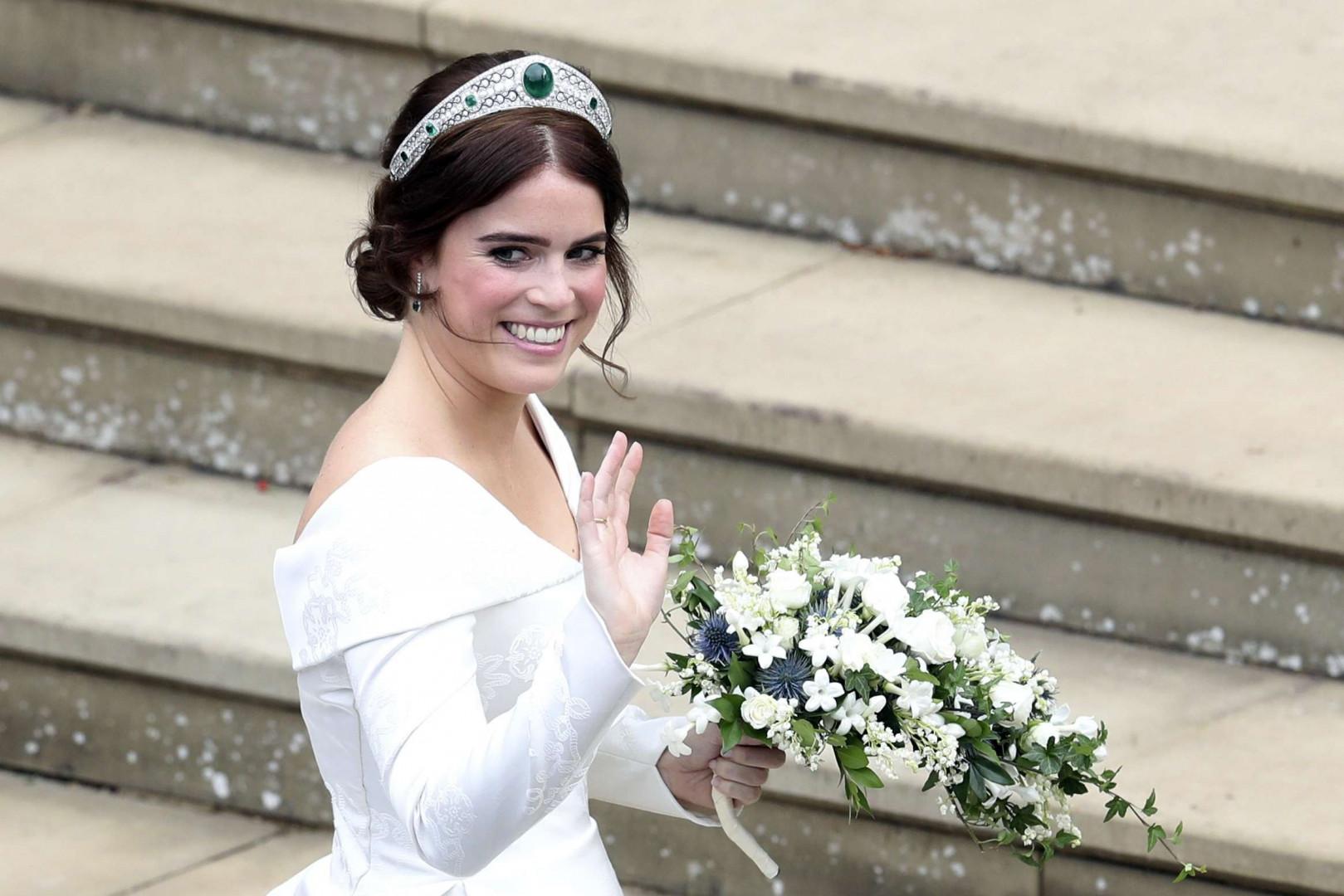 La princesse Eugenie portait un sublime diadème serti d'émeraudes