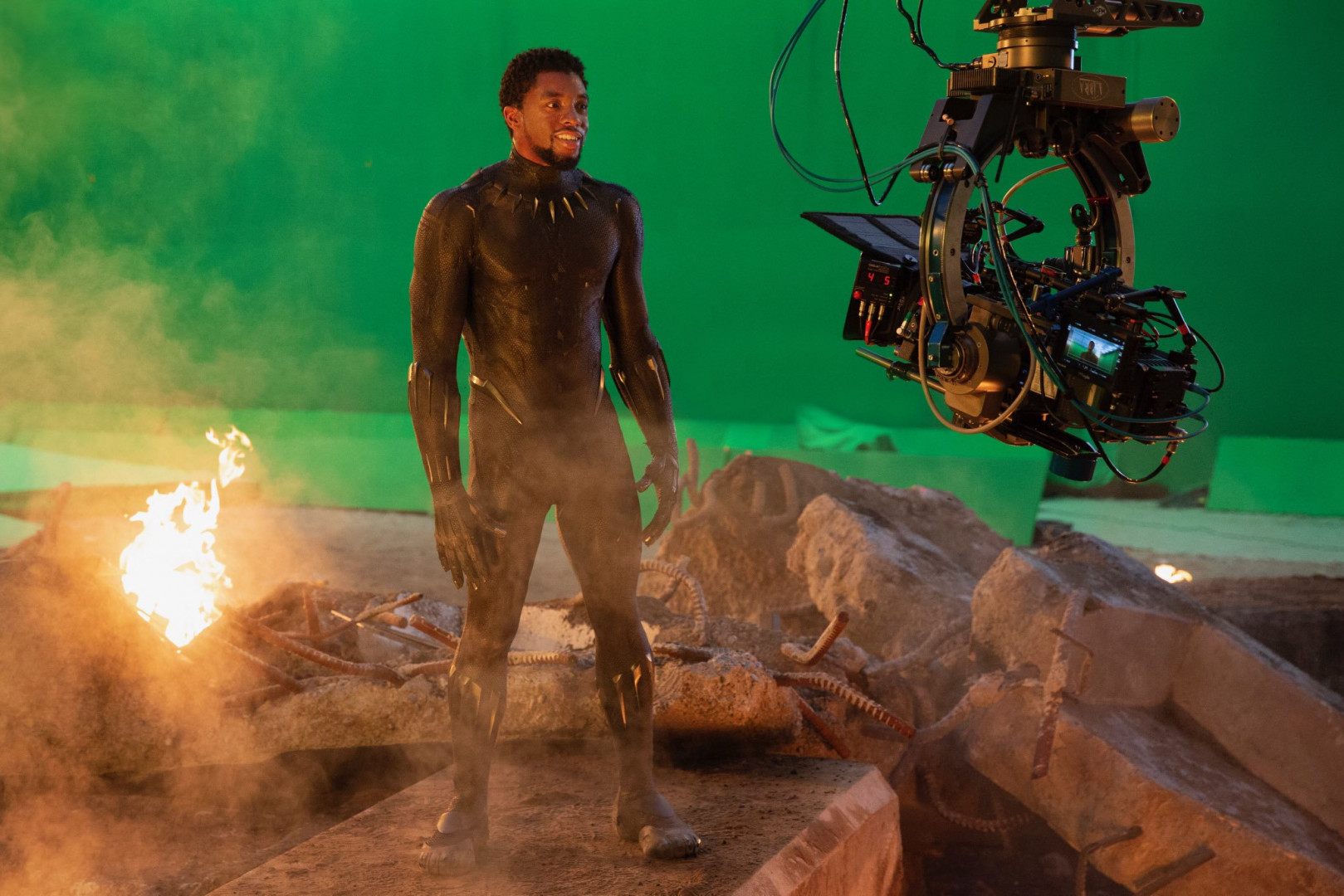 Black Panther n'oublie pas de sourire à la caméra