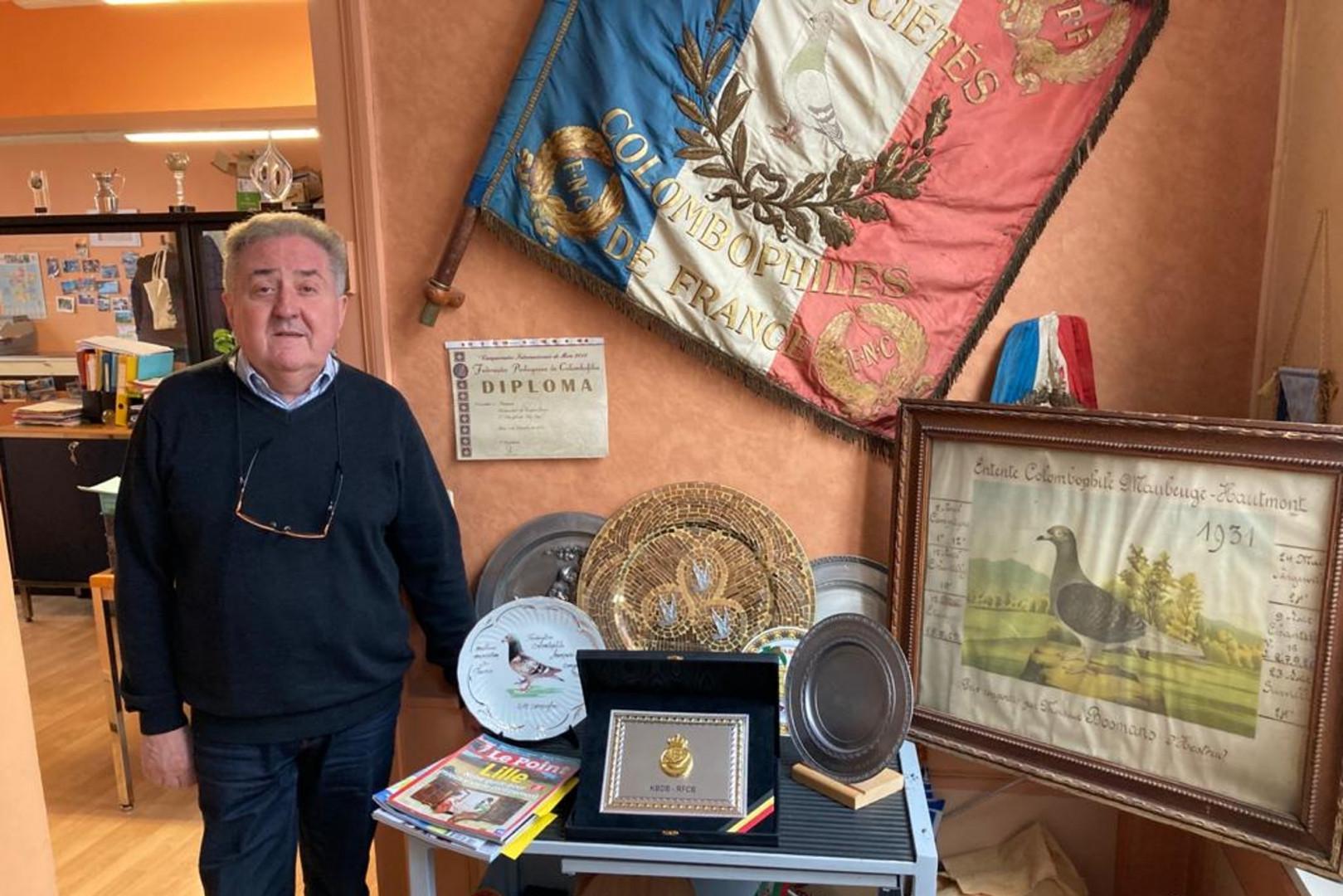 Jean-Jacques Dupuis, président de la Fédération nationale de colombophilie