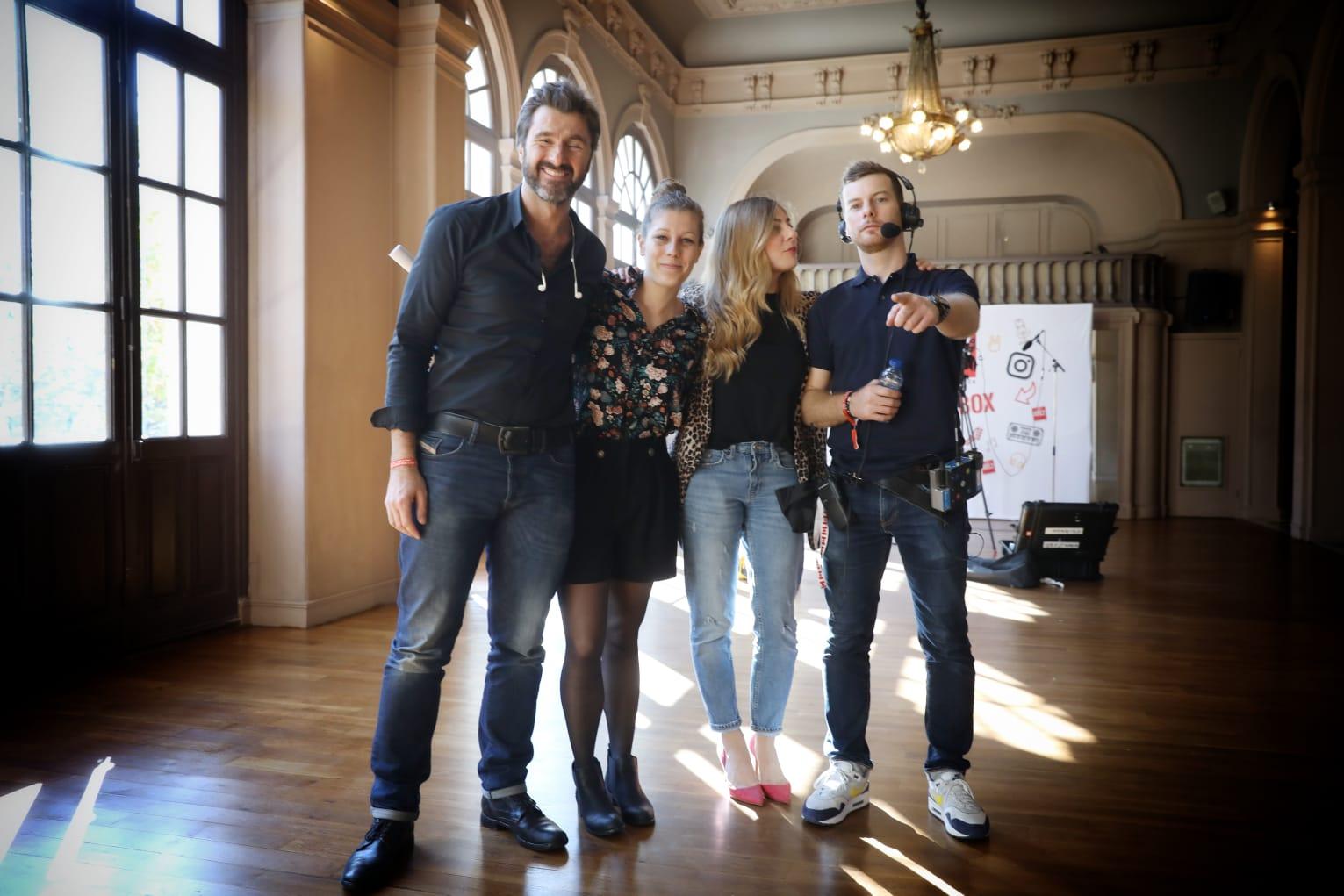 L'équipe du #DriveRTL2 au Trianon avant le Pop-Rock Live