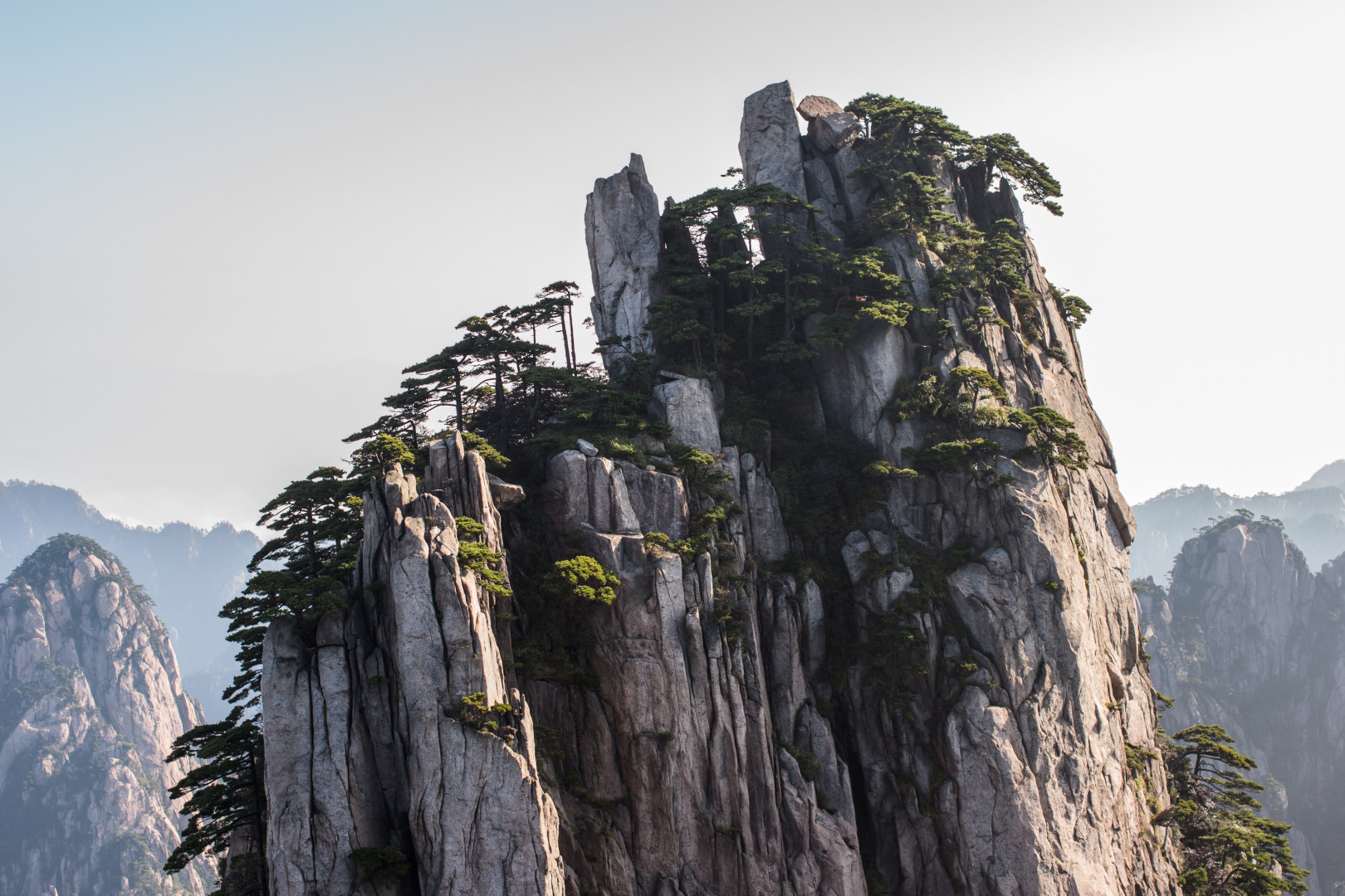 Les monts HuangShan, Chine