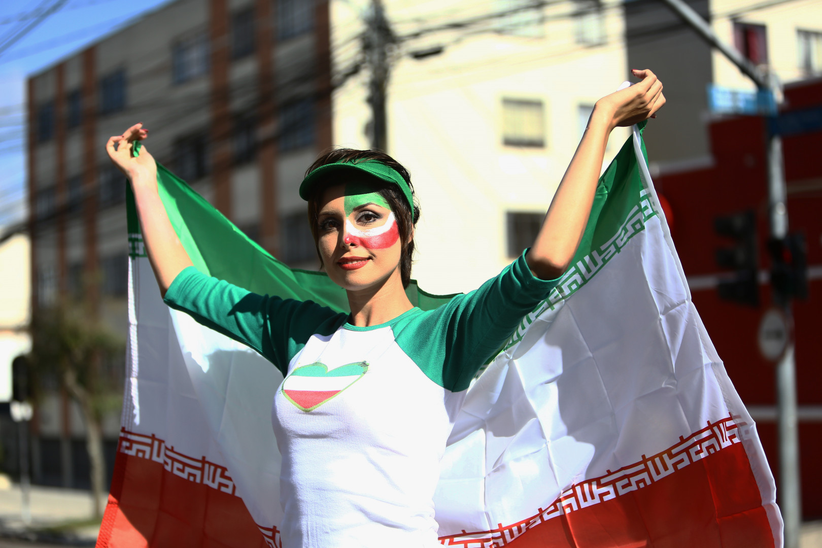 Une supportrice iranienne le 16 juin 2014