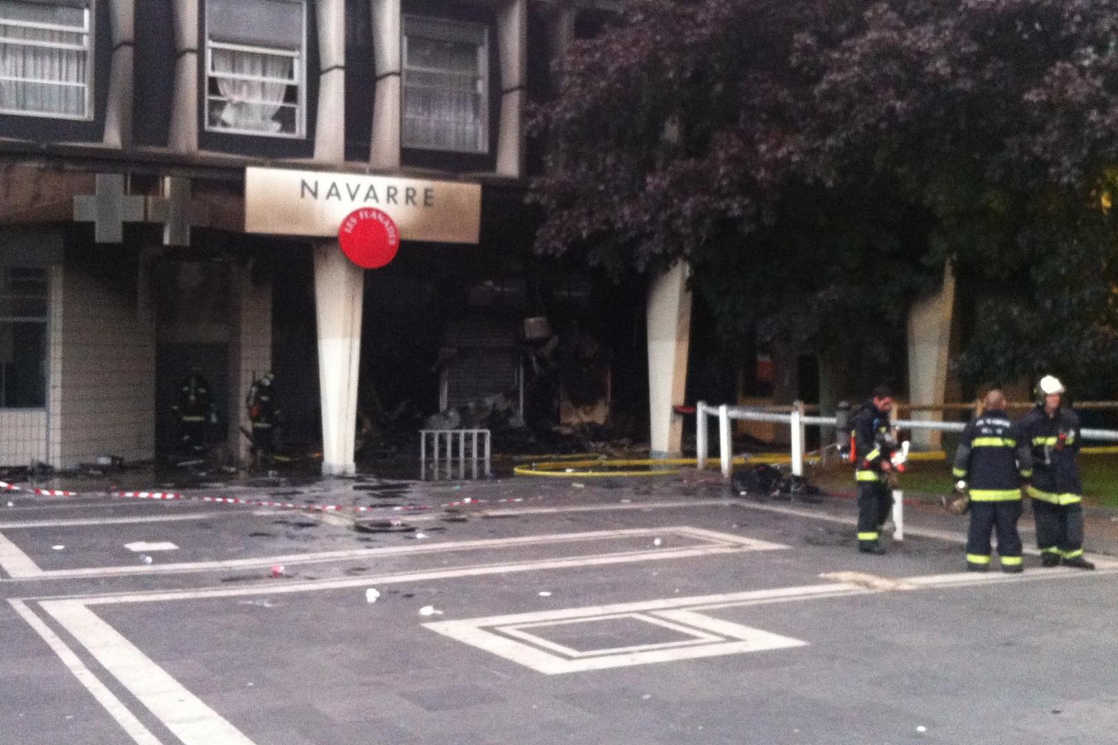 La pharmacie de Sarcelles a été incendiée.