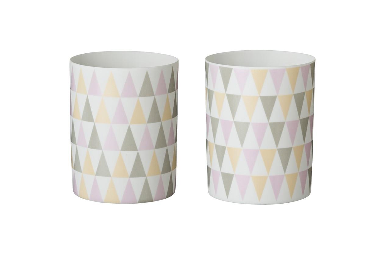 Rangez vos crayons avec ce pot aux jolies couleurs pastel. Photophore Triangle, Bloomingville, Fleux, 9,90 €