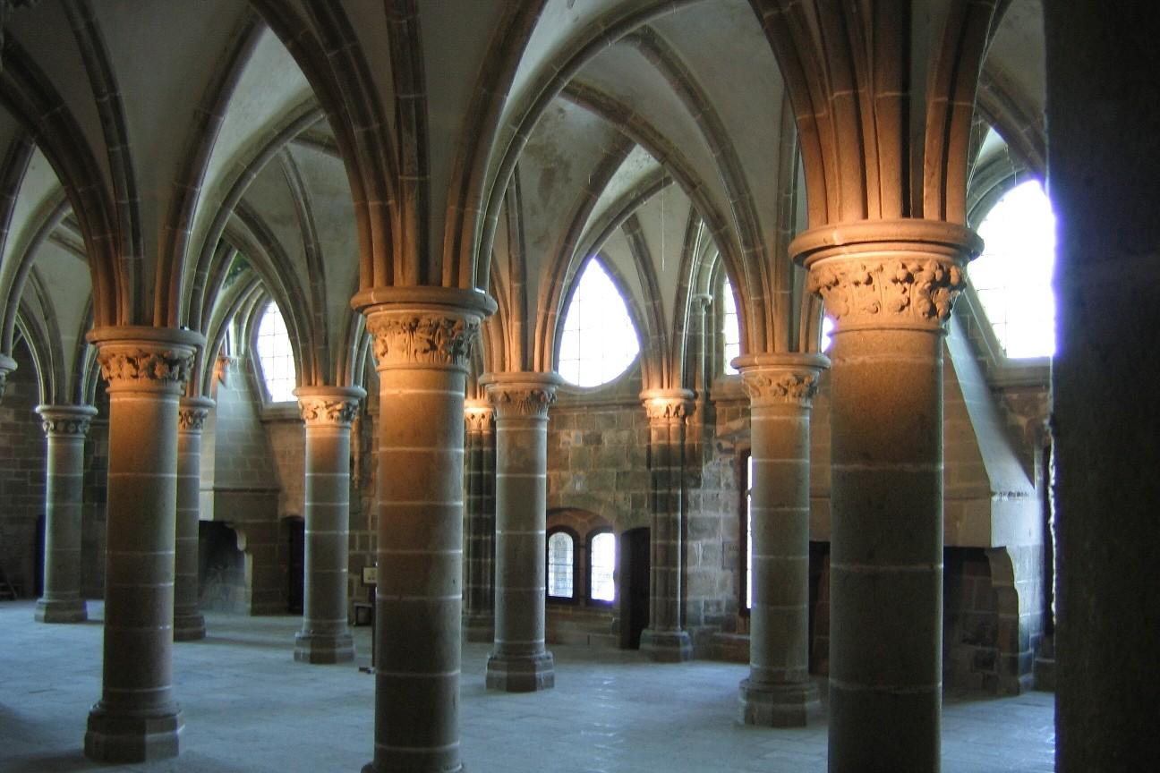 A l'intérieur de l'abbaye