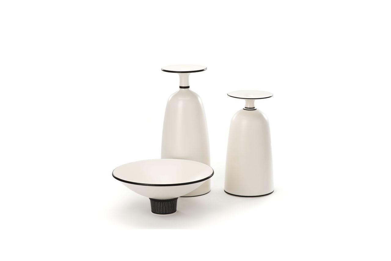 Vases et coupelle, Uzan, disponible chez Talents Opéra
